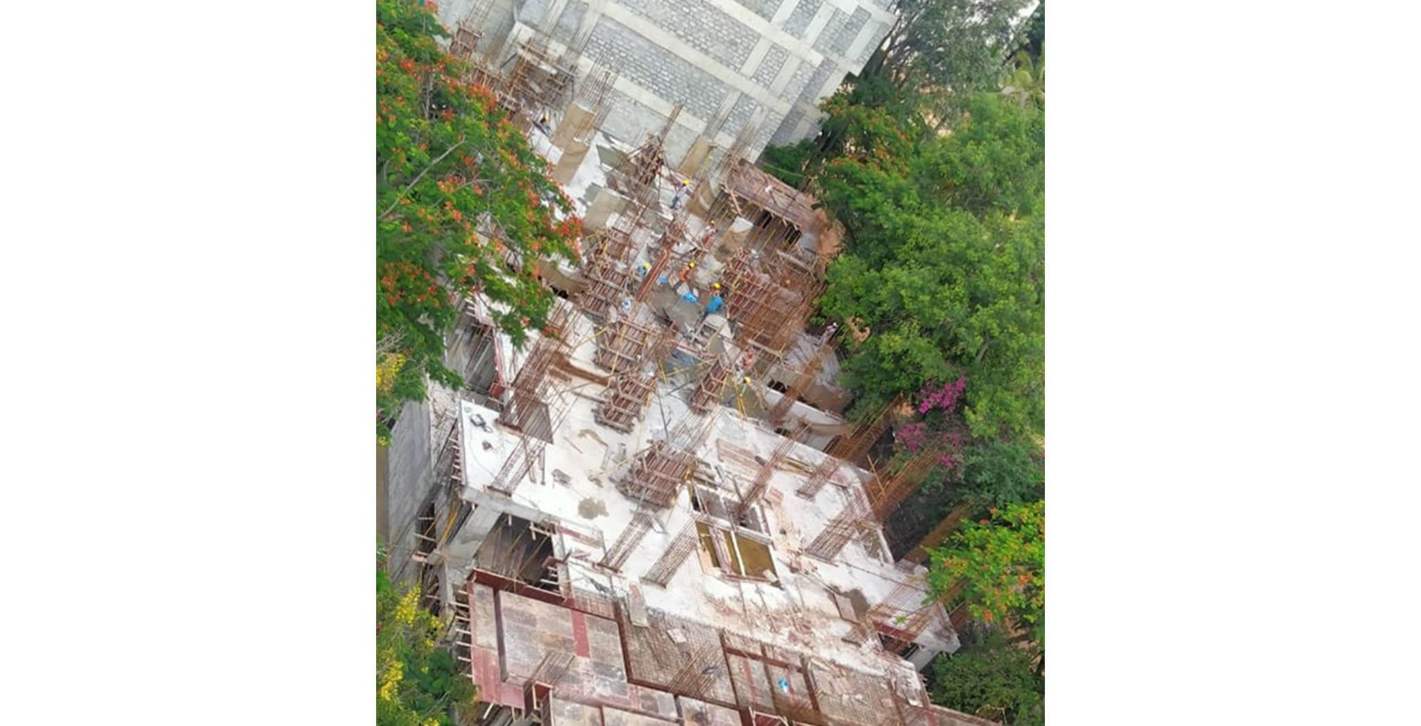 Jun 2020 - M Block: 1st to 2nd floor column work-in-progress.