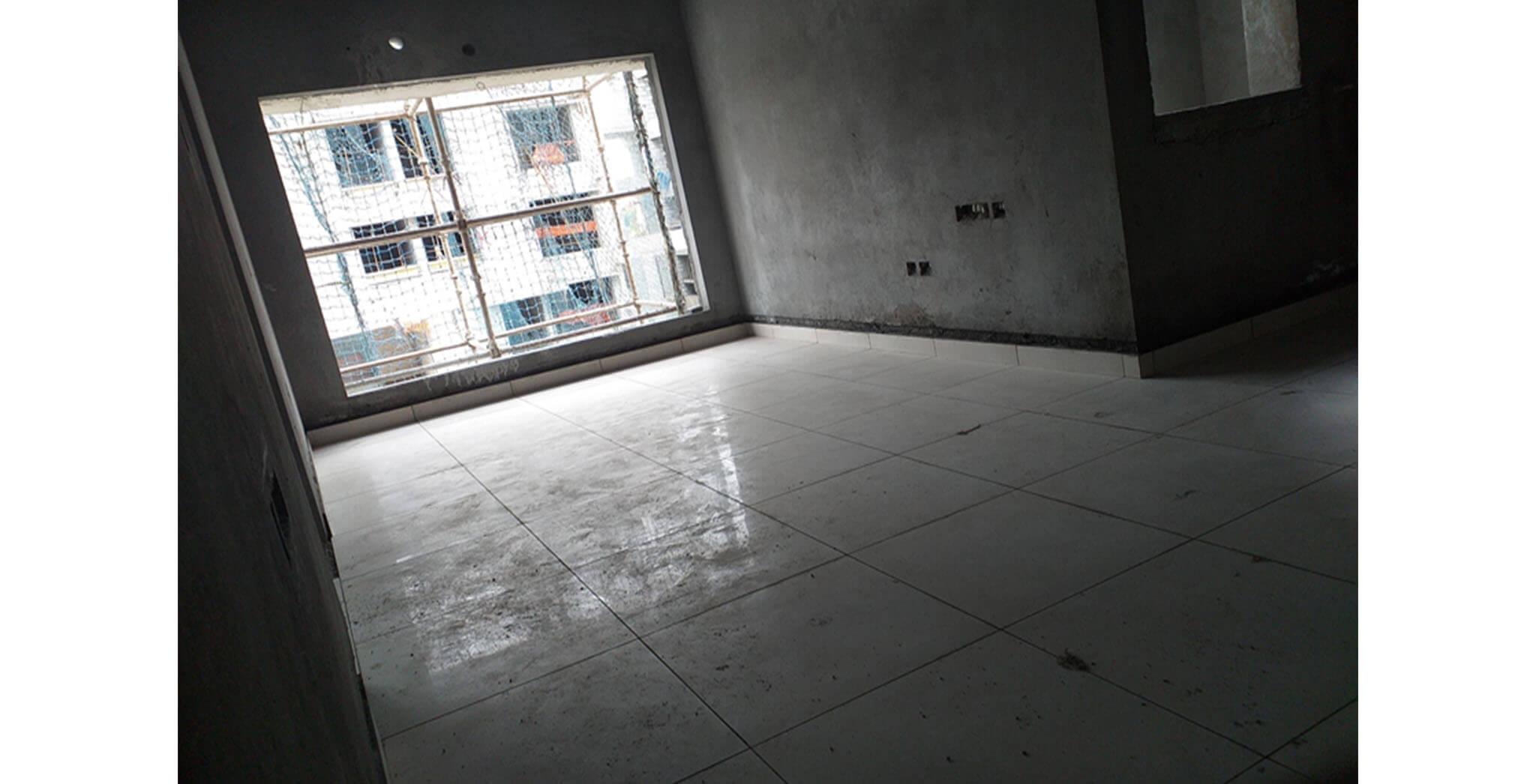 Jul 2020 - West side view: M & N Blocks—Tiling work-in-progress.