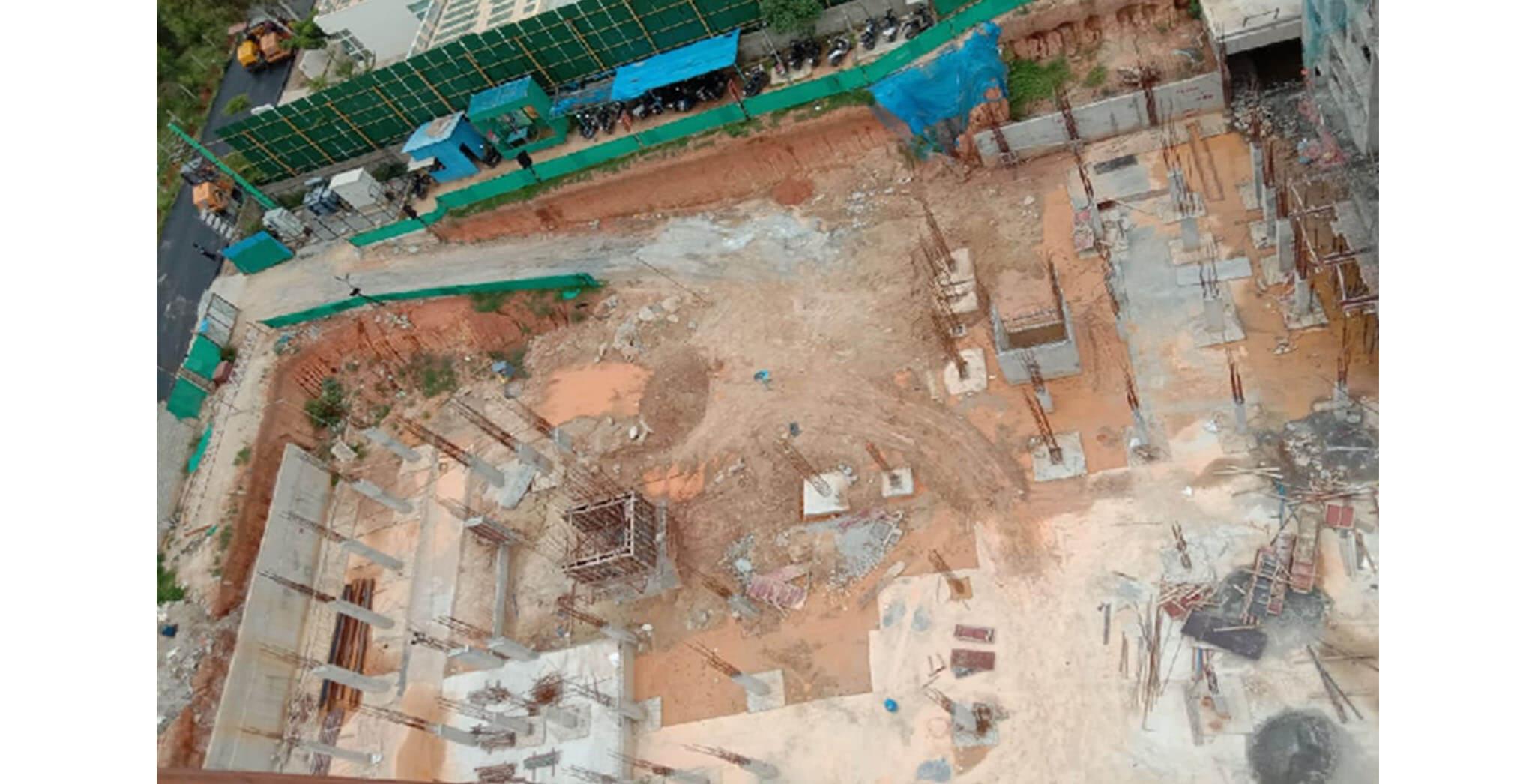 Jul 2020 - South side view: D Block—foundation work-in-progress.