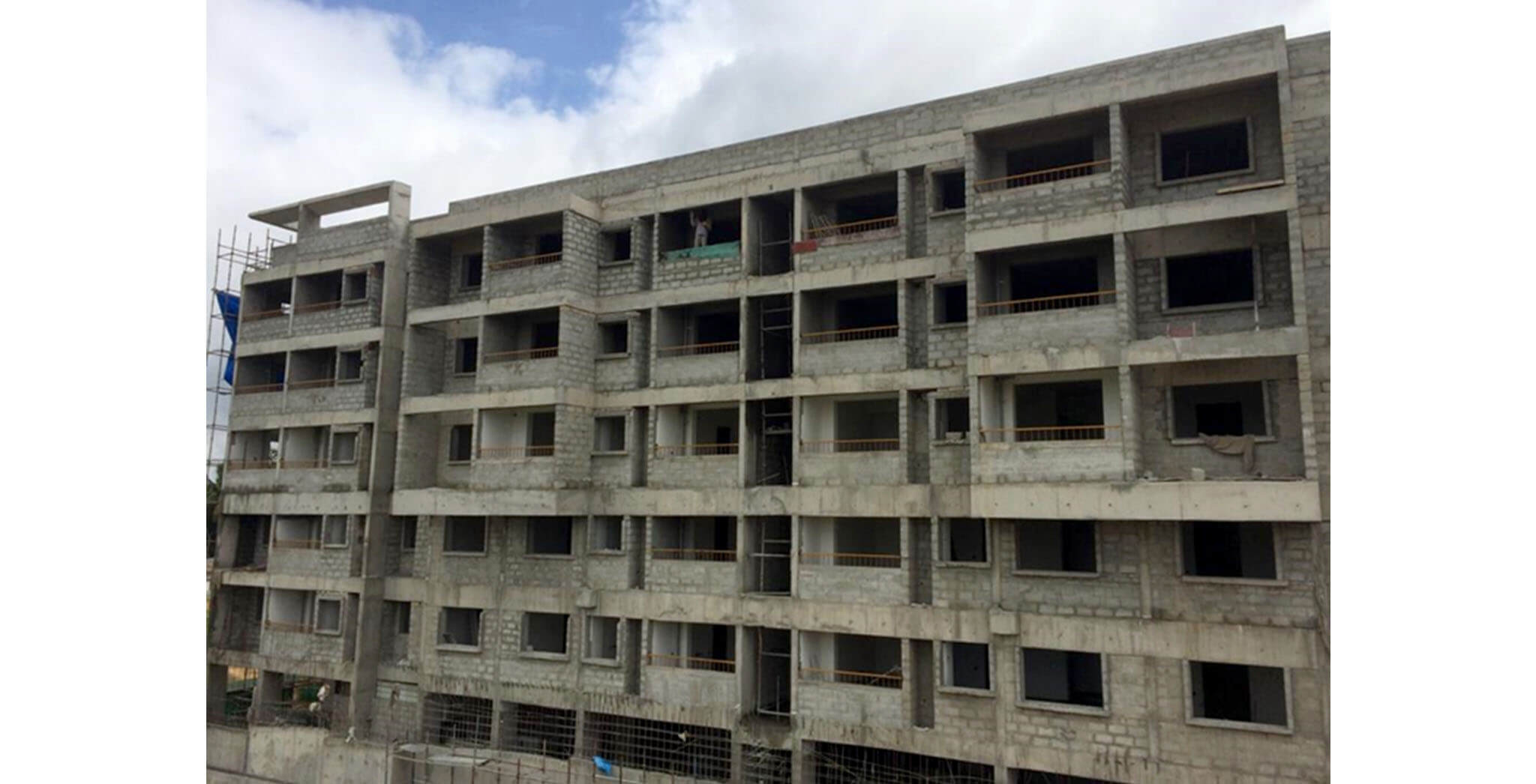 Jul 2020 - Blocks K, L, M & N: Structure, Blockwork, MS work completed, 4th floor plastering work-in-progress