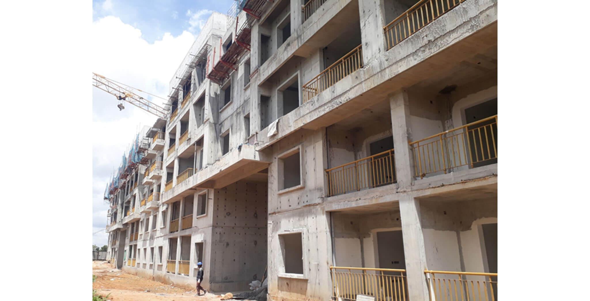 Jun 2020 - S & T Blocks: Above terrace work-in-progress