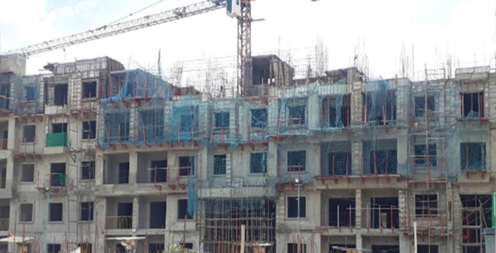Jun 2020 - N Block: Terrace floor slab work-in-progress