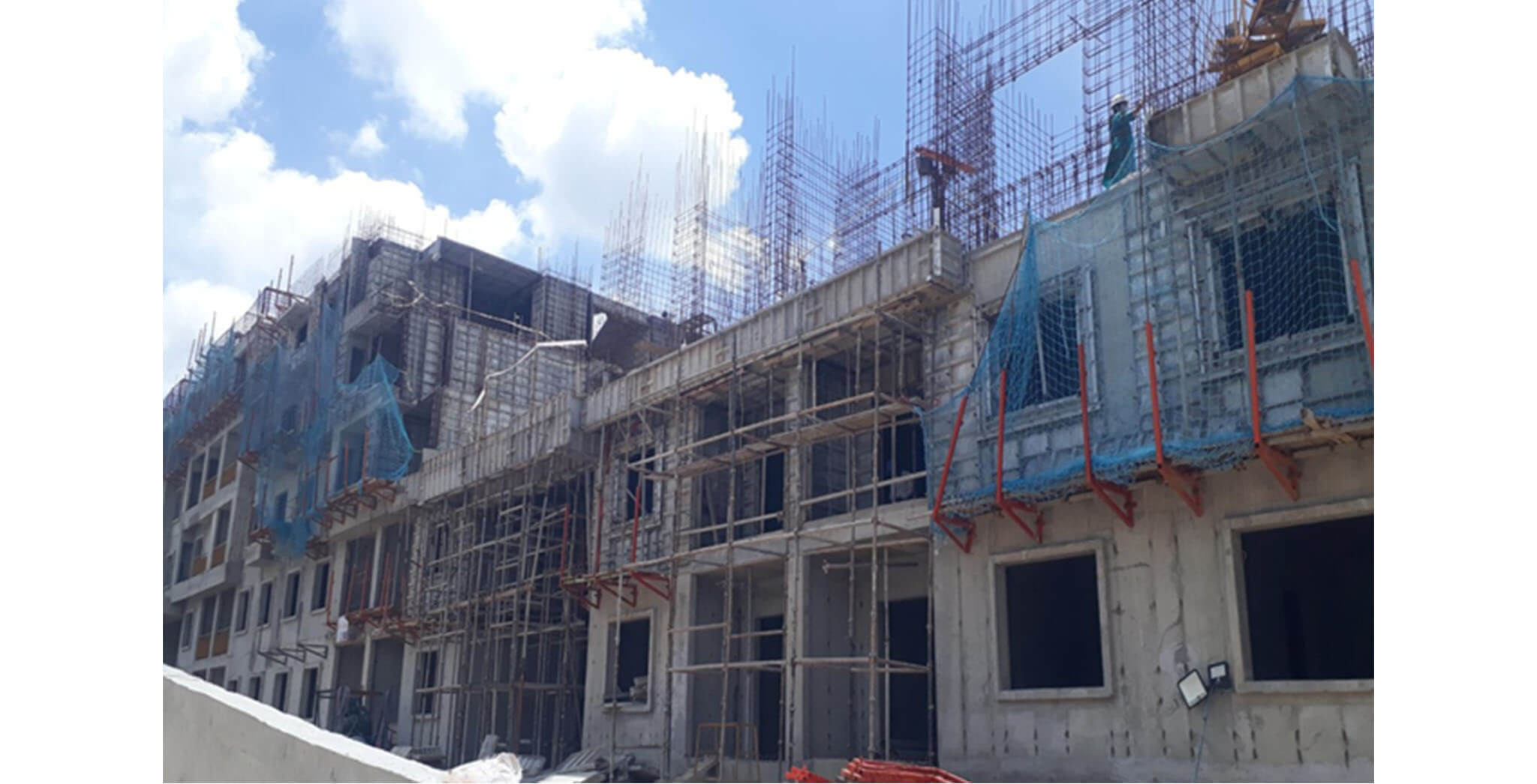 Jun 2020 - P Block: Third floor slab work-in-progress
