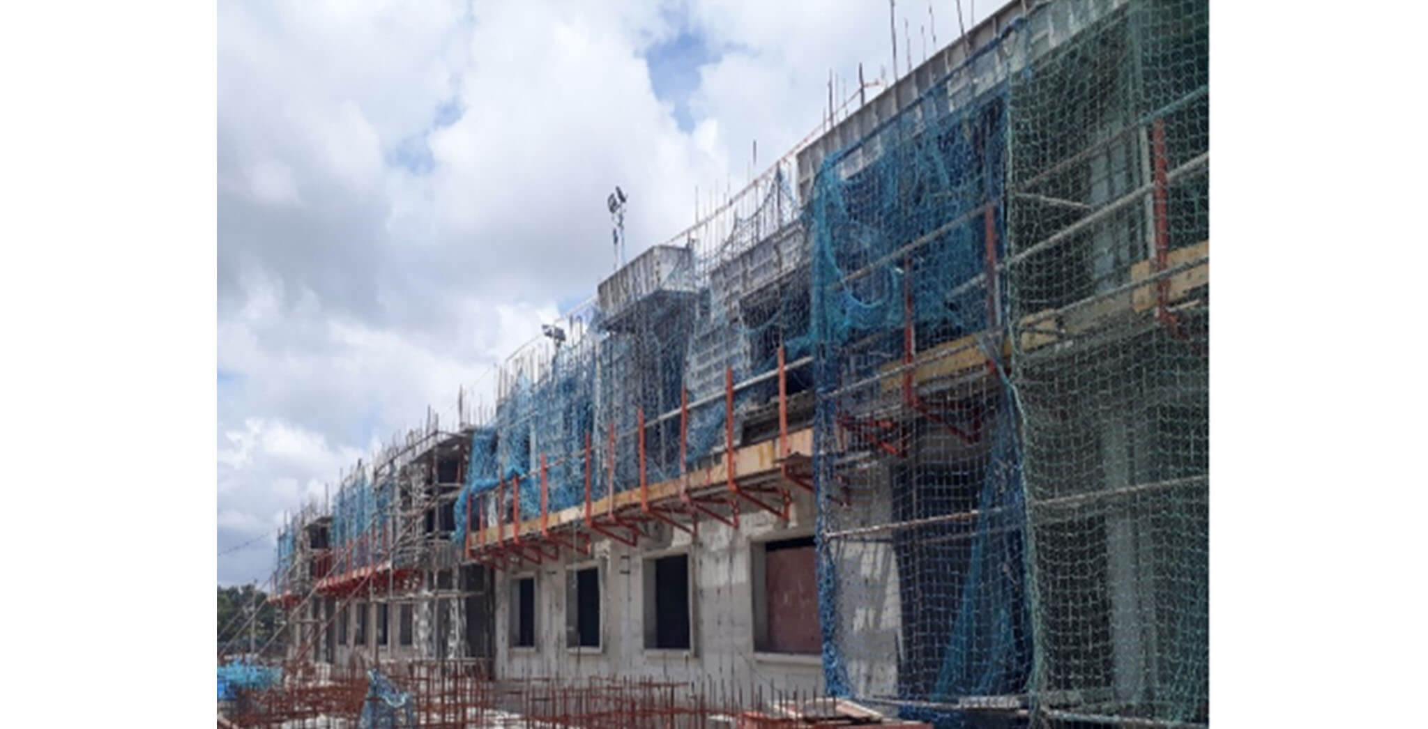 Jun 2020 - F Block: First & second floor slab work-in-progress