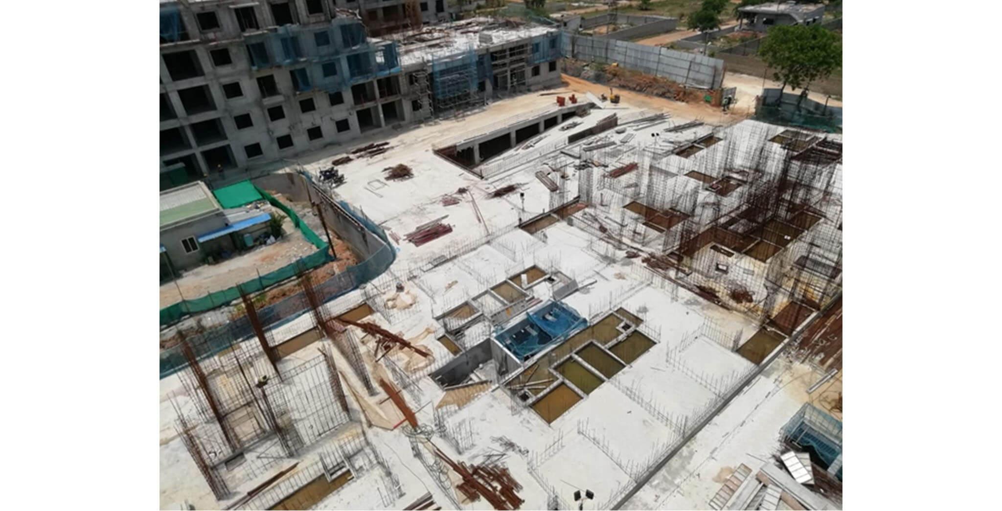 Jun 2020 - L Block: Ground floor slab completed
