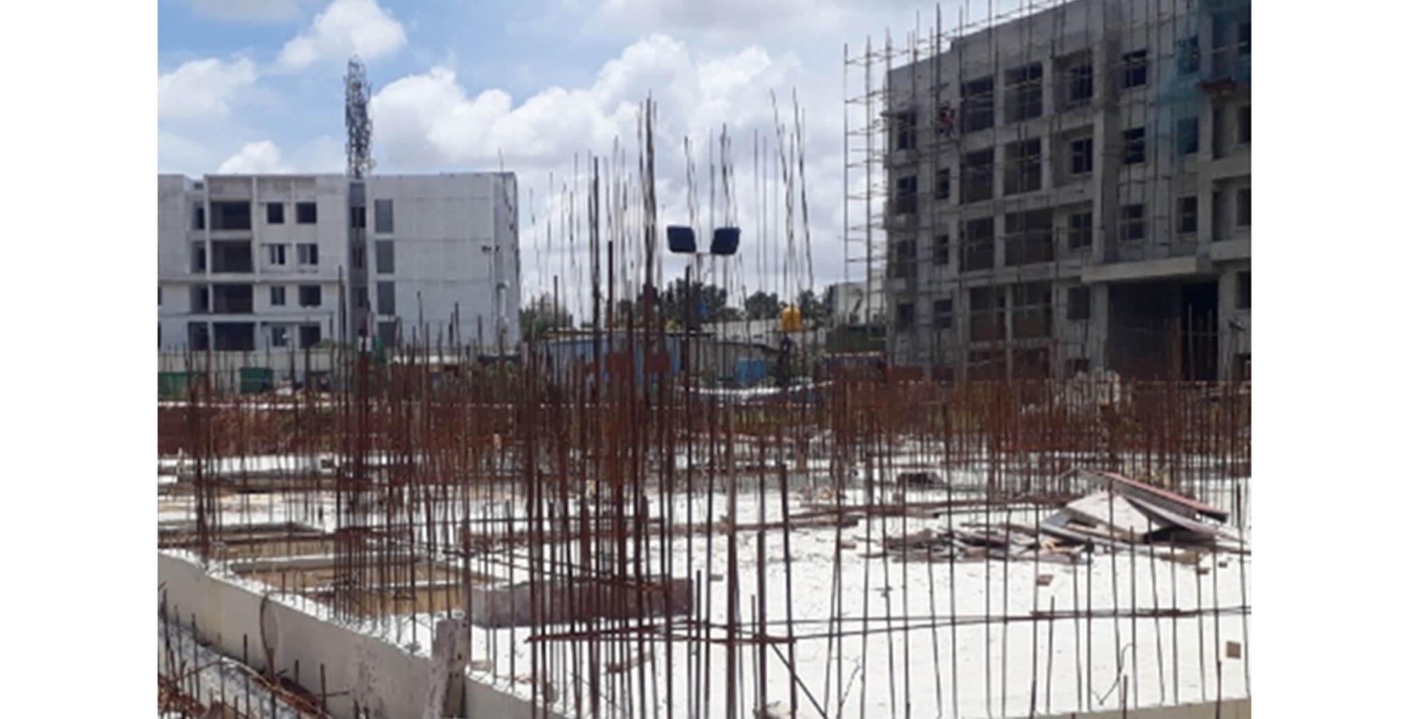 Jun 2020 - J Block: Ground floor slab completed