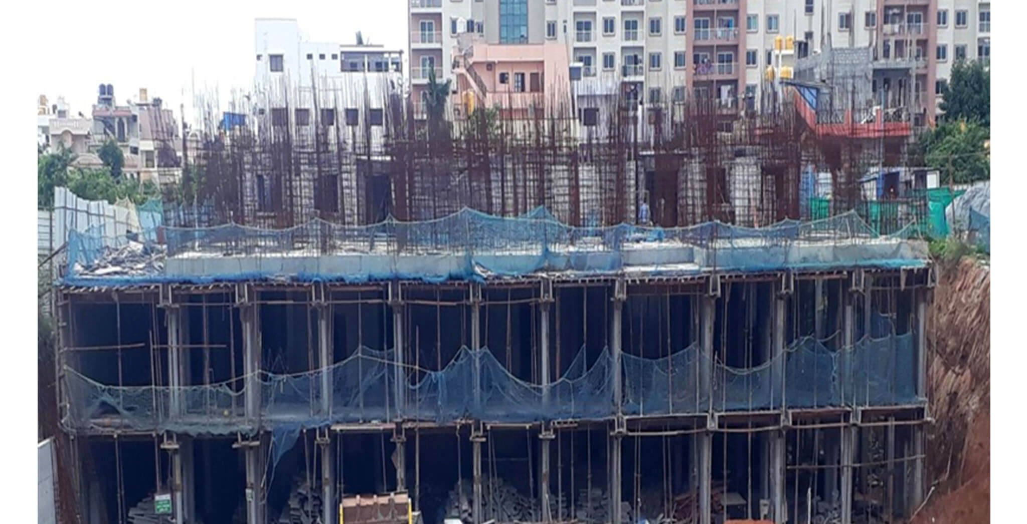 Jun 2020 - B Block: Ground floor slab completed