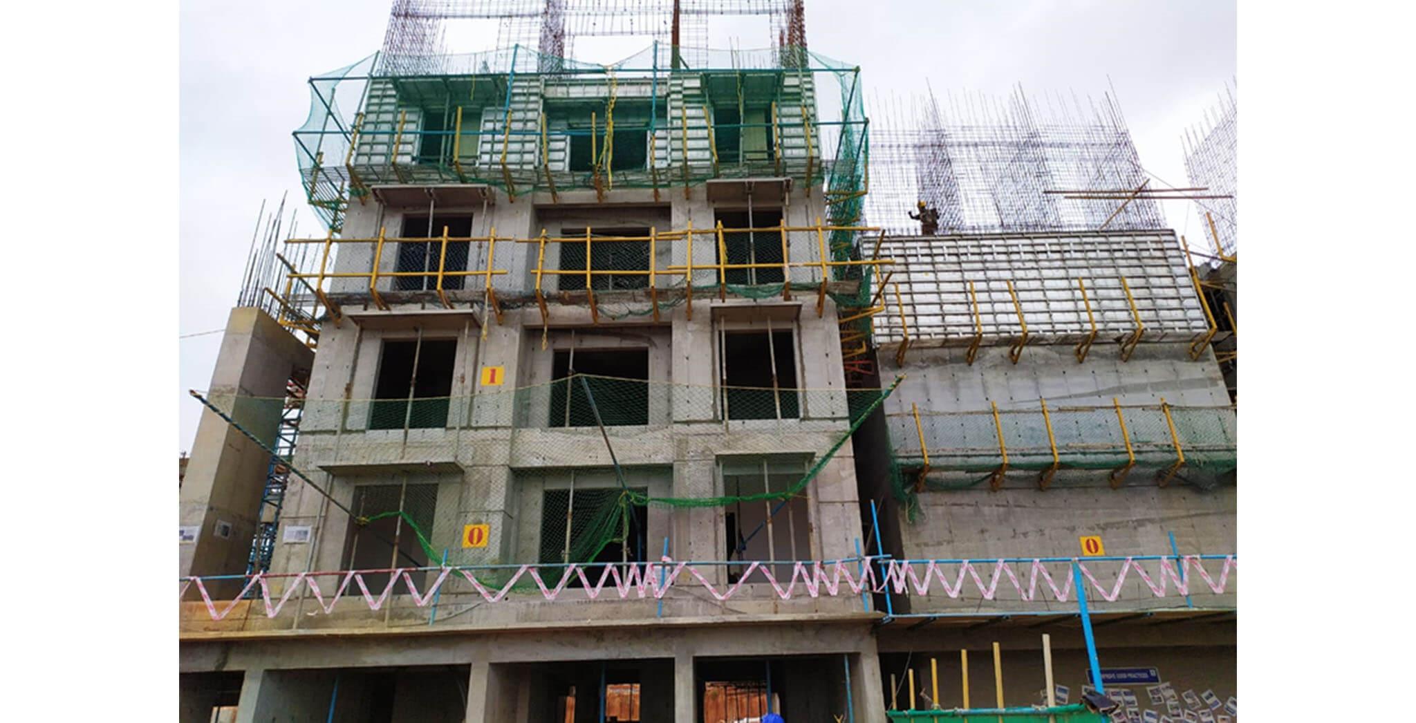 GF, 1st Floor, 2nd Floor, 3rd floor & 4th Floor Elevation – South side - Status Image 1