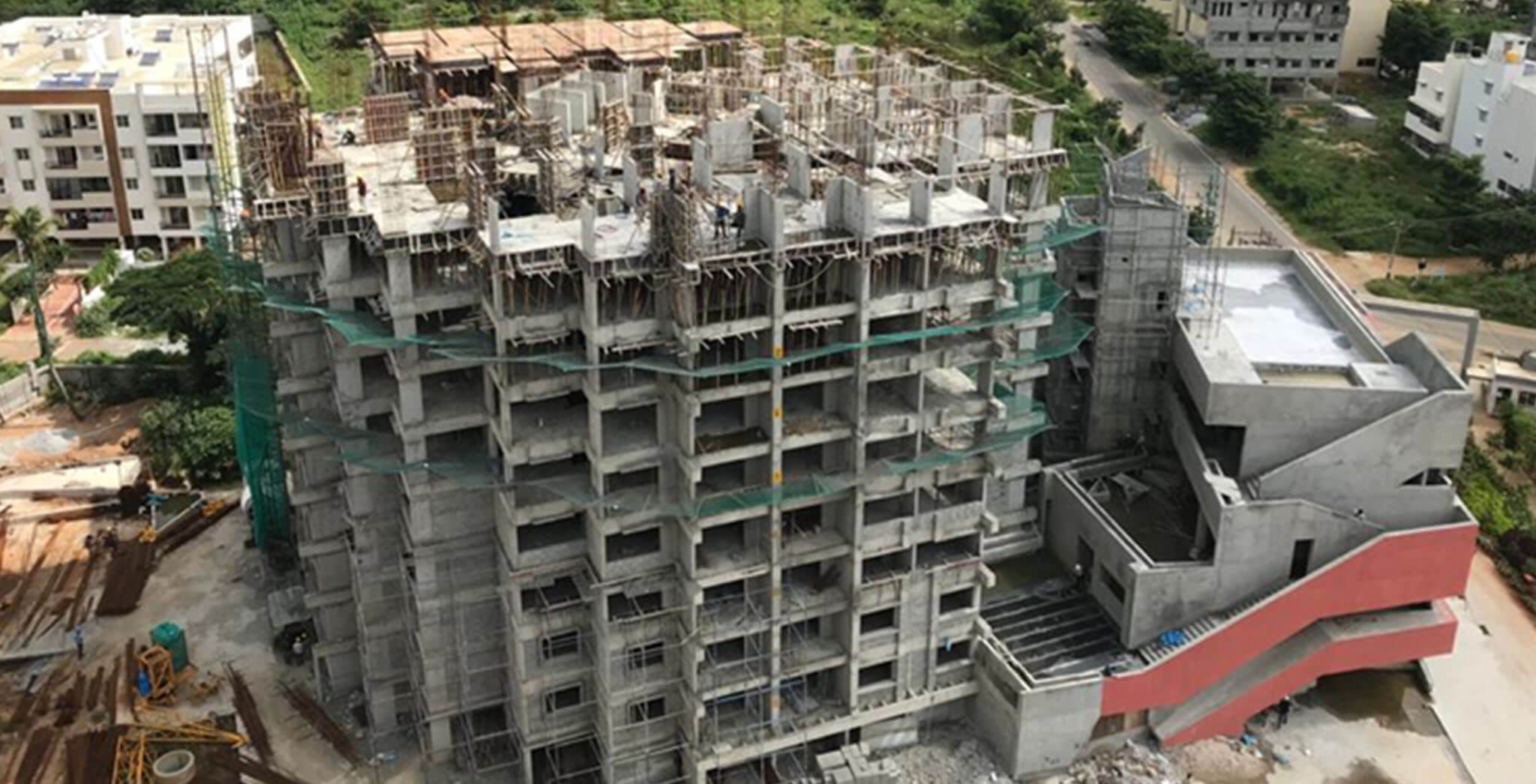 Jul 2020 - Tower A: 9th floor slab completed