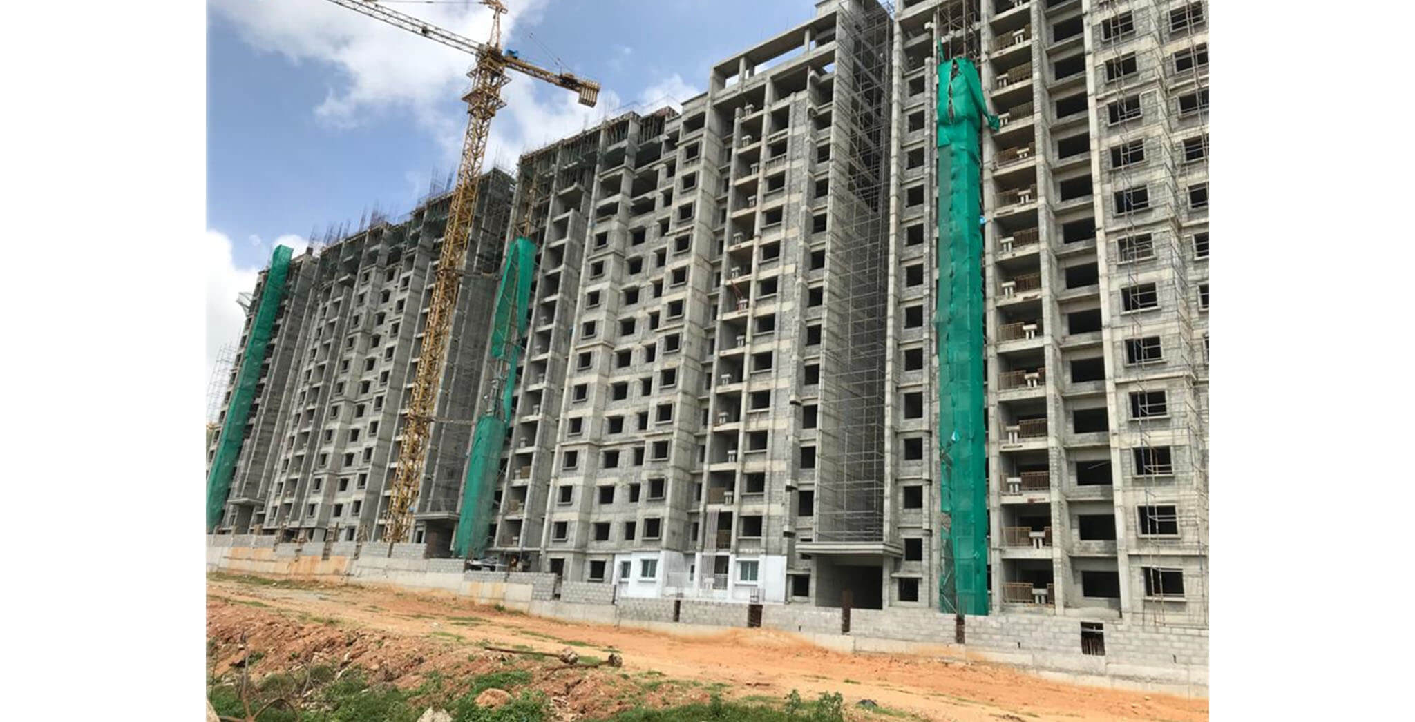 Jul 2020 - Towers E, F & G: Structure completed; Internal finishing work-in-progress