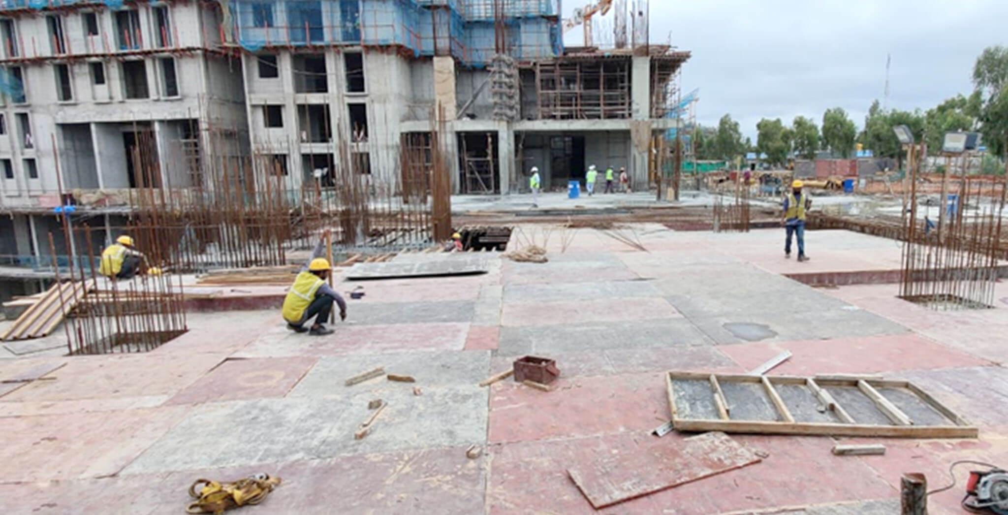 Jul 2020 - Eden: Tower B—Ground floor slab work-in-progress.