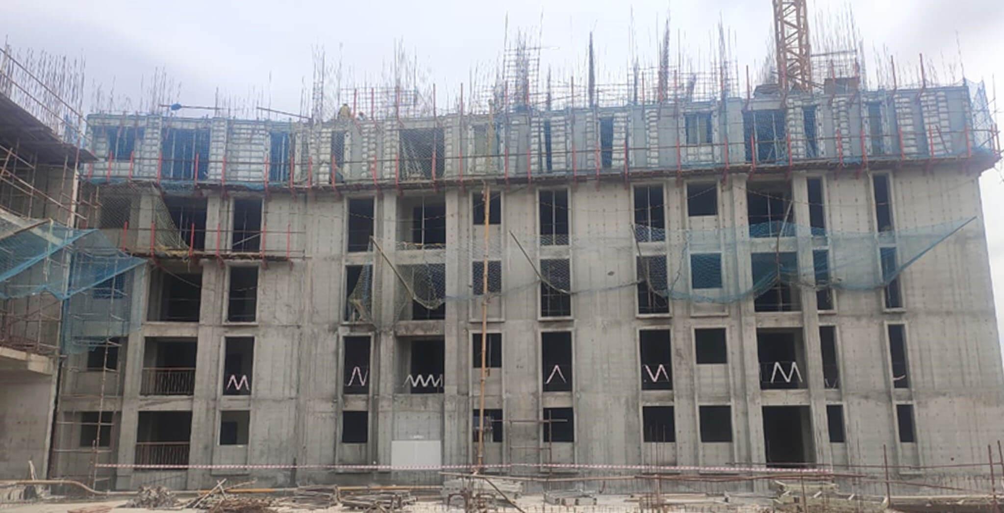 Jul 2020 - Eden: Tower C—5th floor slab work-in-progress.
