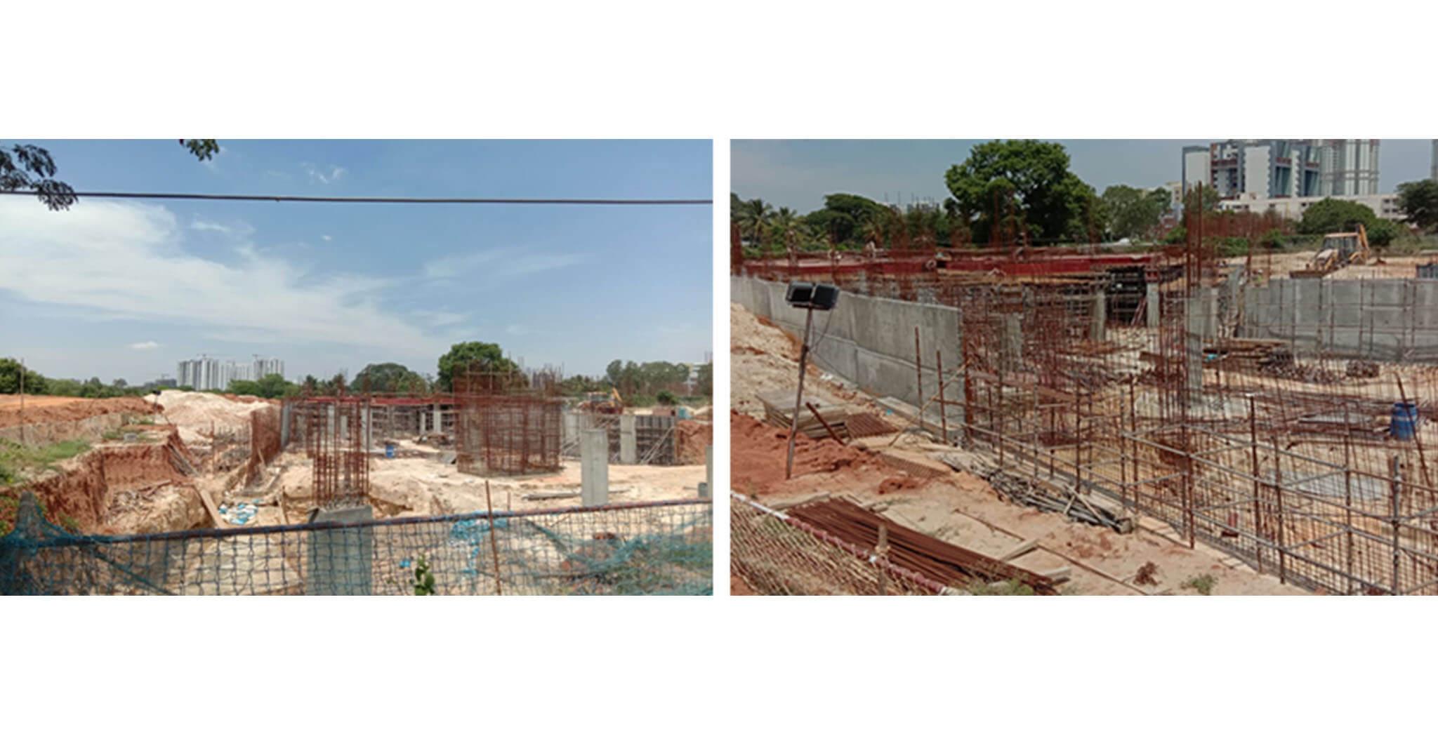 Jul 2020 - Oasis Club House: Basement structure work under progress