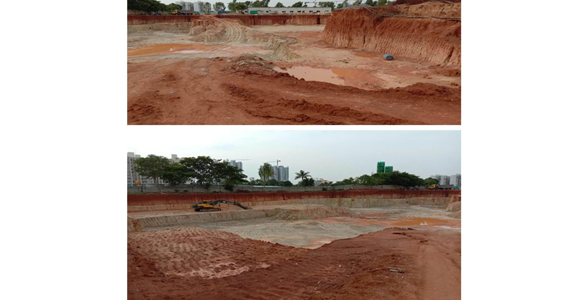 Jul 2020 - Tranquil: Towers K, L, M, N, O, P & Q—Excavation under progress