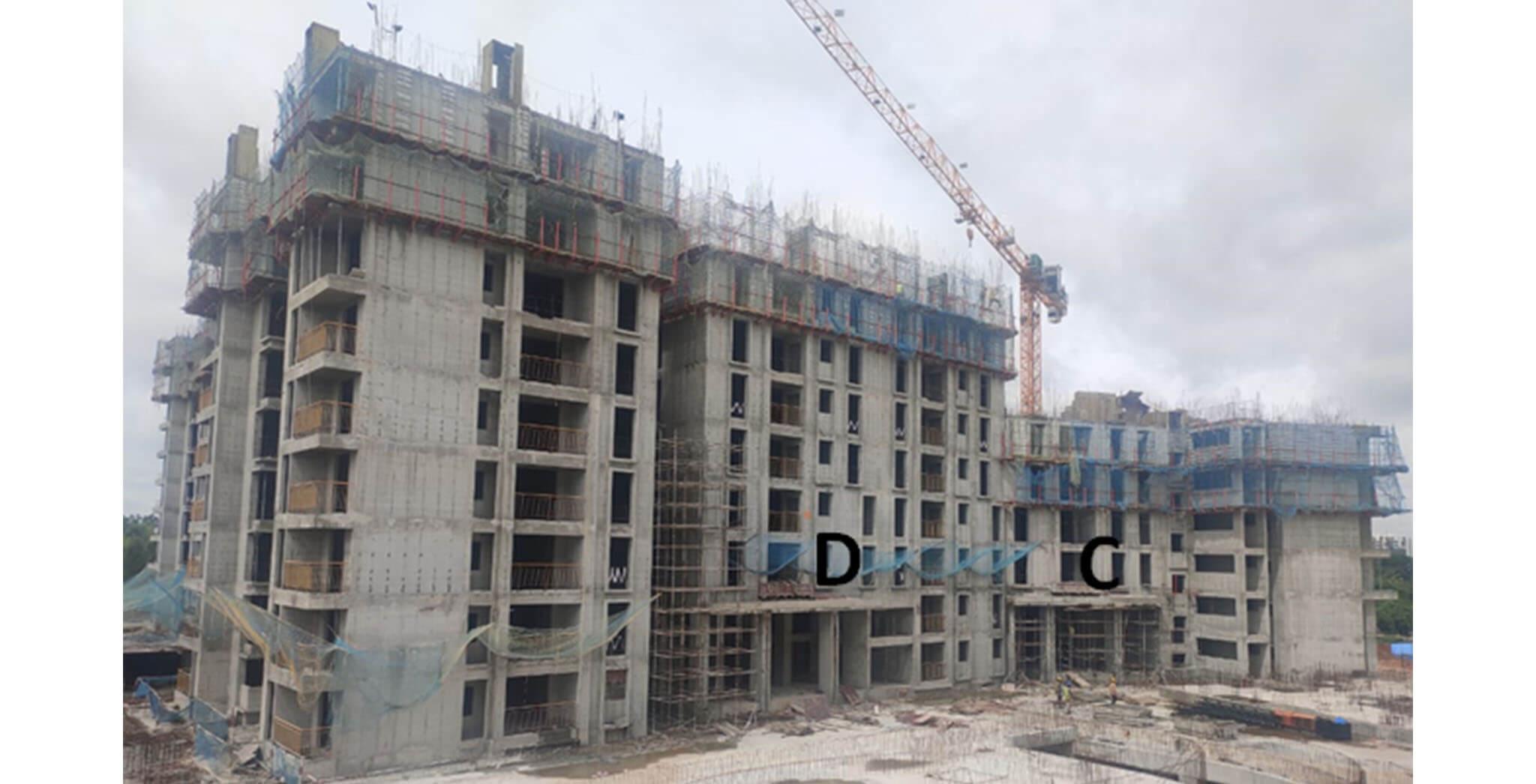Jul 2020 - Serene: Tower C—6th floor slab in progress & Tower D—9th floor slab in progress.