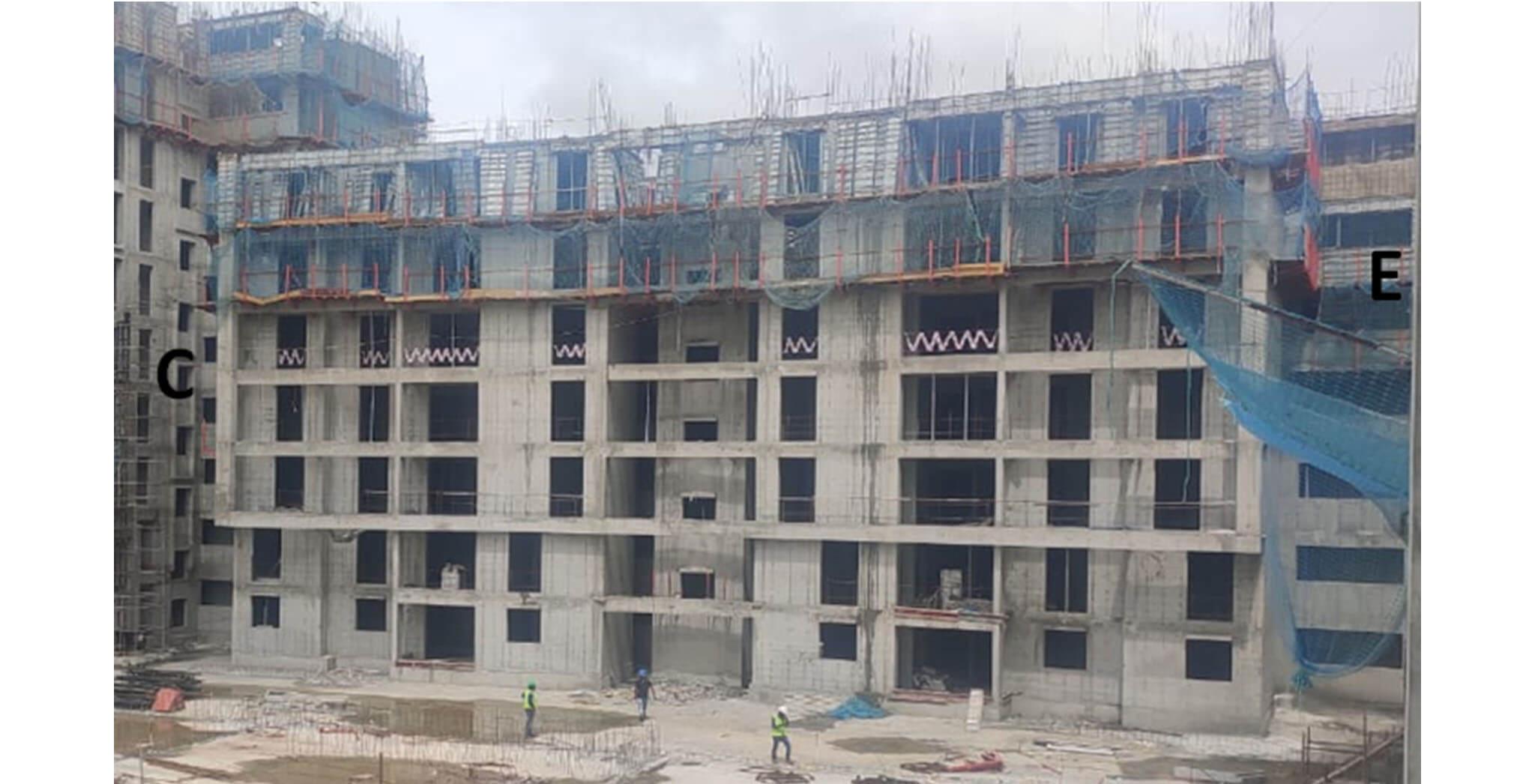 Jul 2020 - Serene: Low rise between C & E Towers—7th Floor slab work under progress.