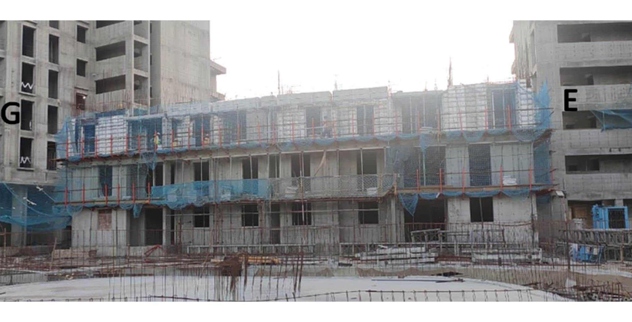 Jul 2020 - Serene: Low rise between G & E Towers—3rd Floor slab work under progress.