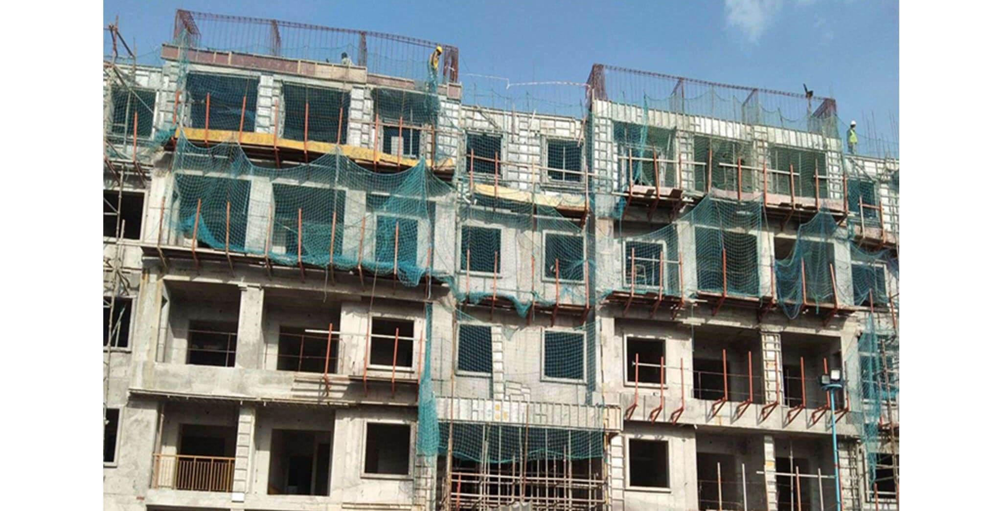 Aug 2020 - N Block: Terrace floor slab completed