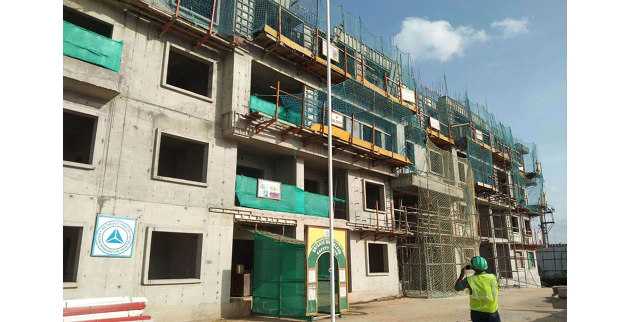 Aug 2020 - P Block: Fourth floor slab completed