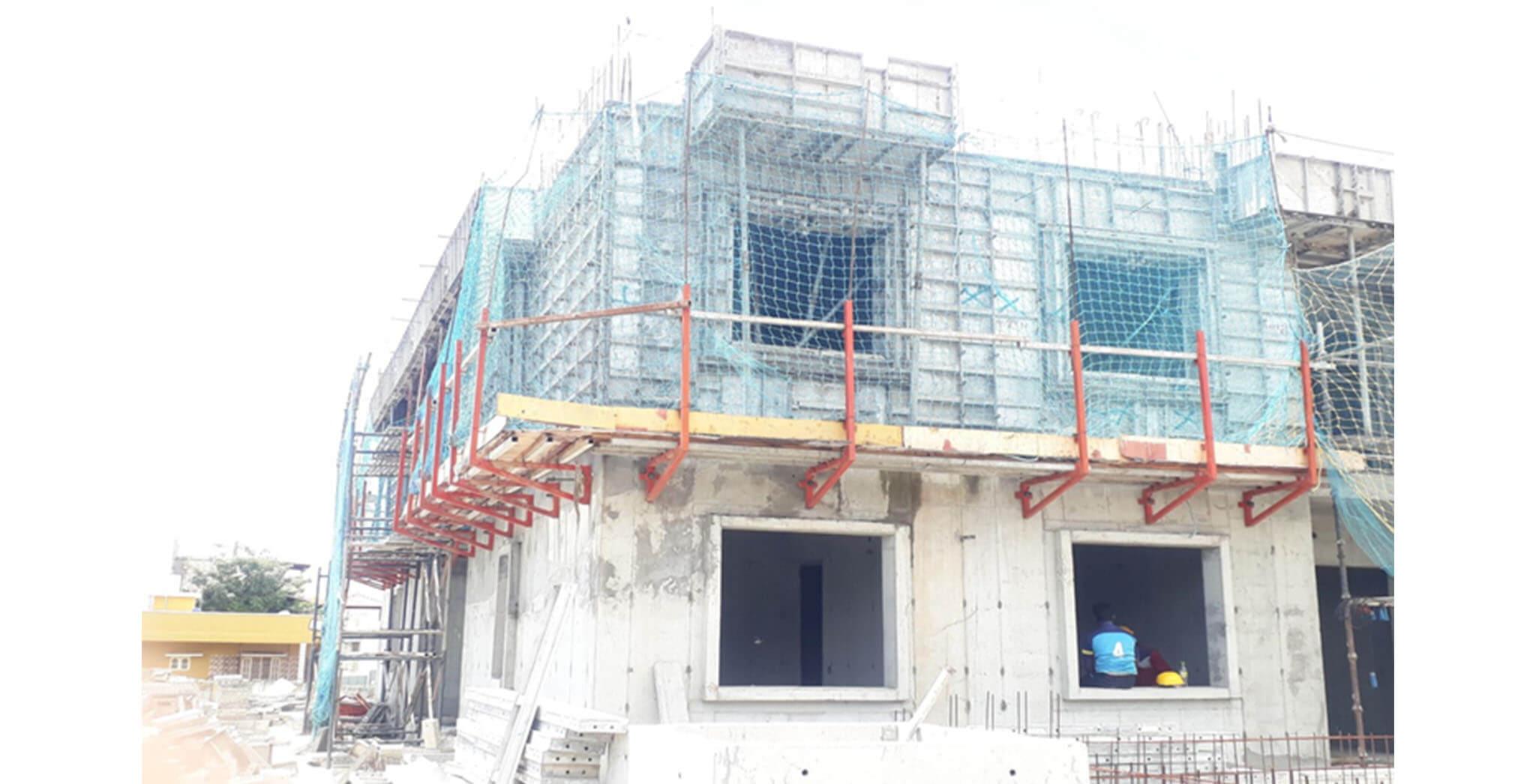 Aug 2020 - G Block: Second floor slab work-in-progress
