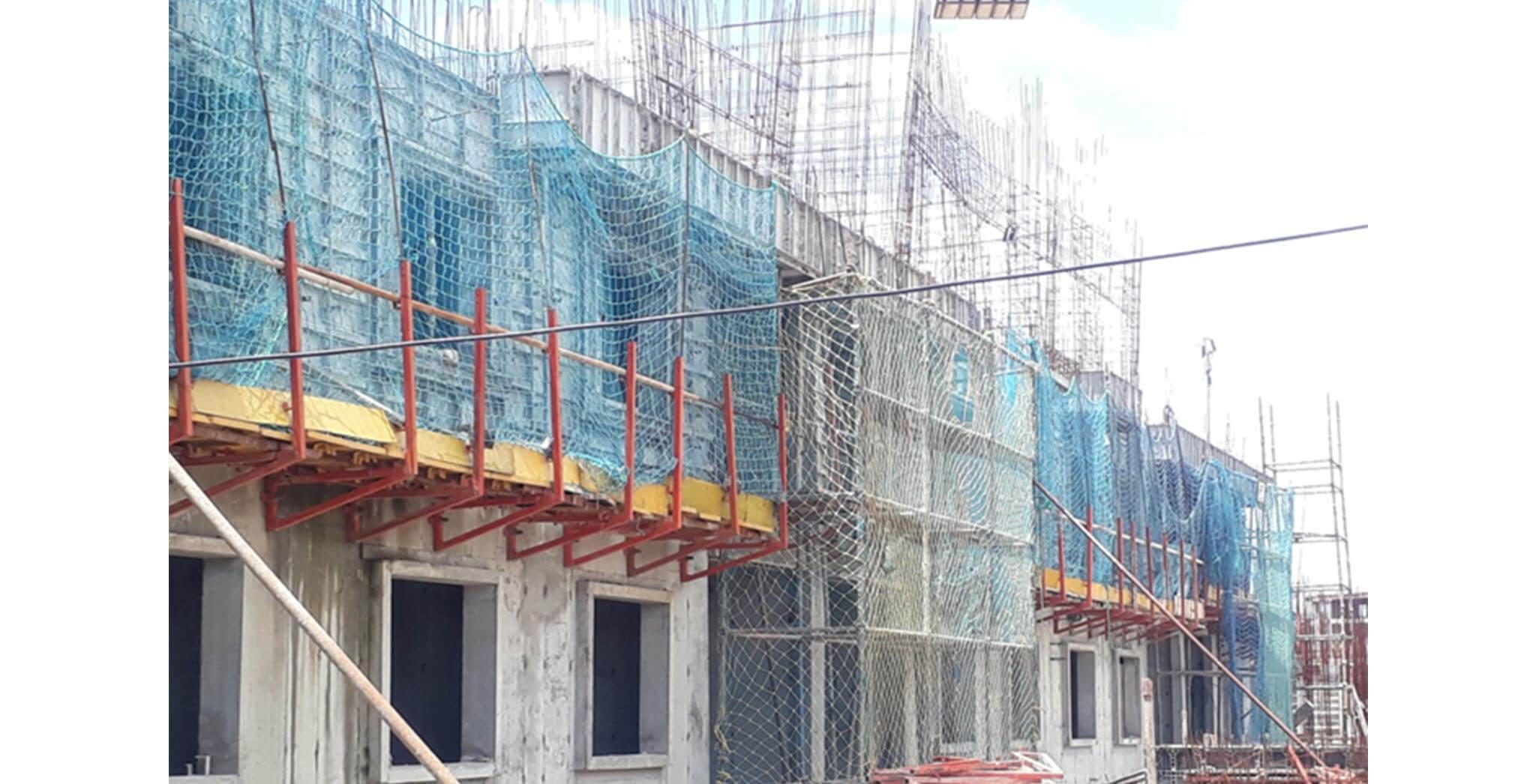Aug 2020 - F Block: First & second floor slab work-in-progress
