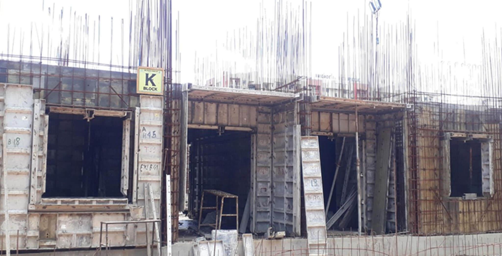 Aug 2020 - K Block: First floor slab work-in-progress