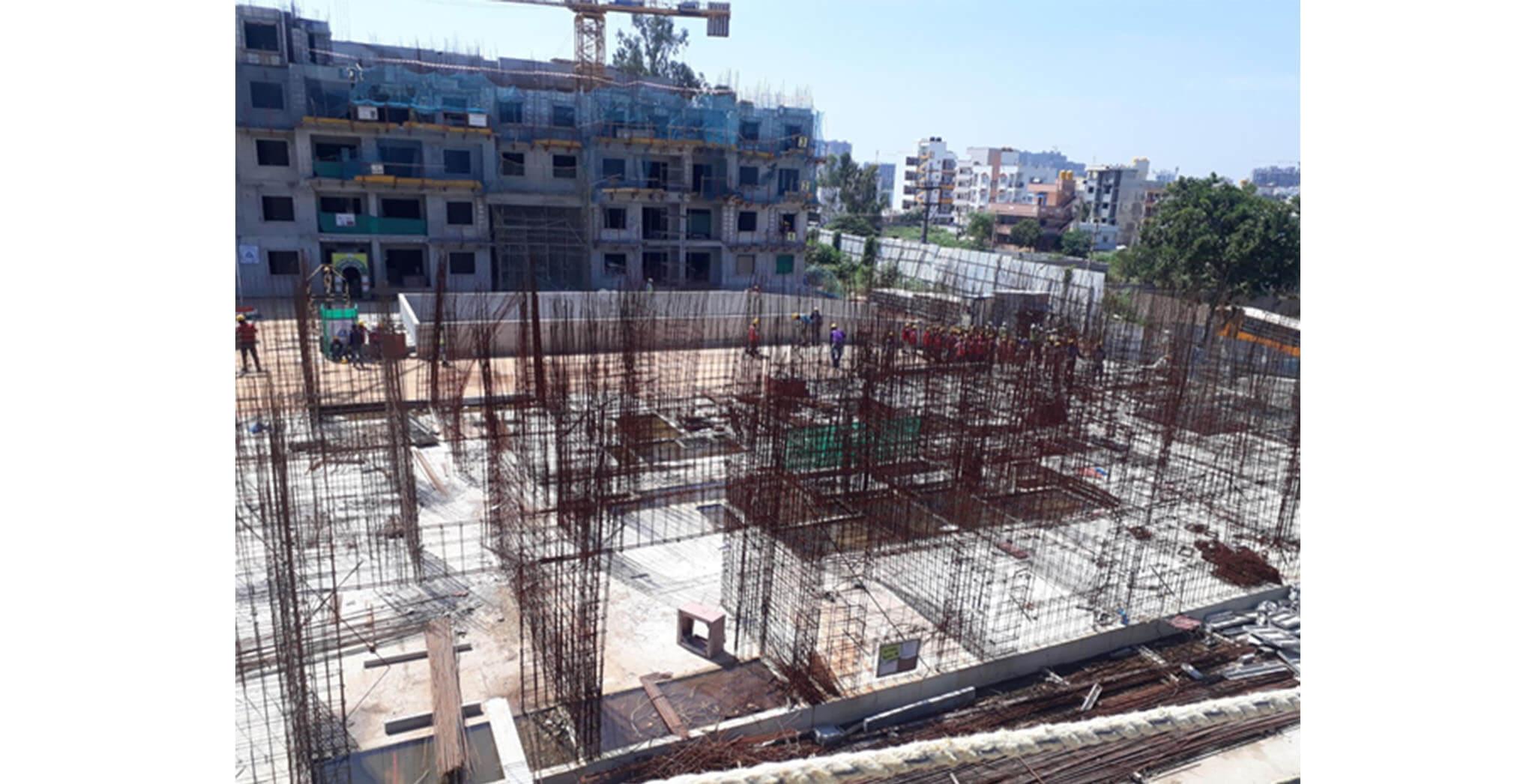 Aug 2020 - L Block: Ground floor slab completed