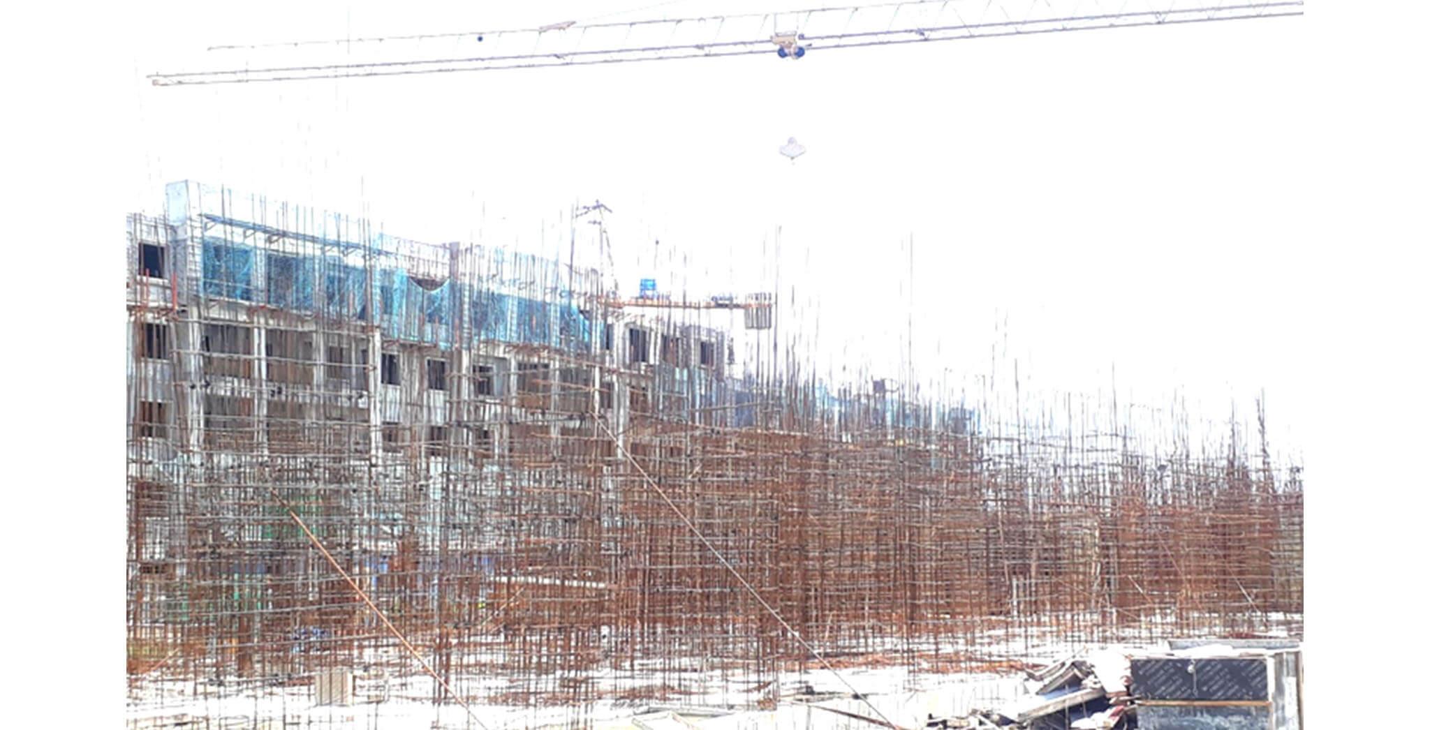 Aug 2020 - J Block: Ground floor slab completed