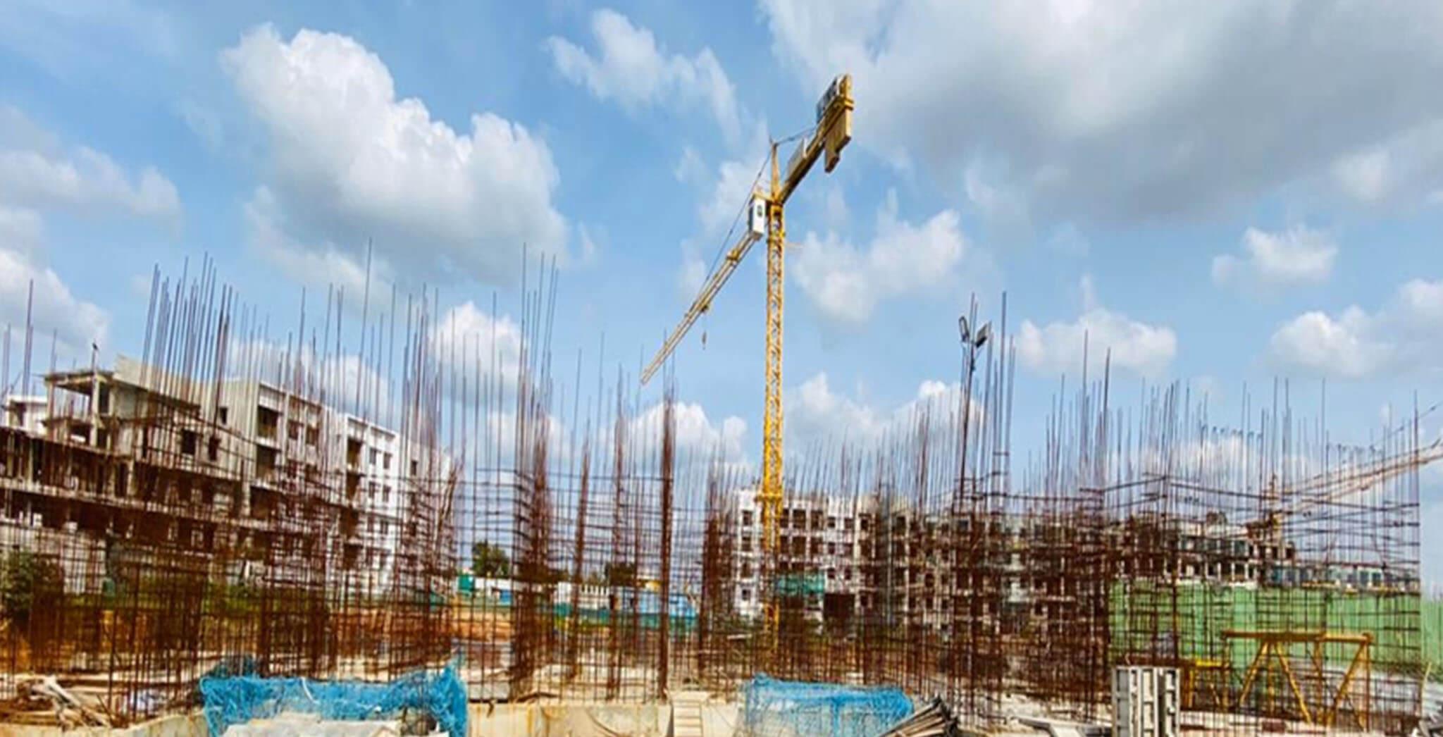 Aug 2020 - B Block: Ground floor slab completed