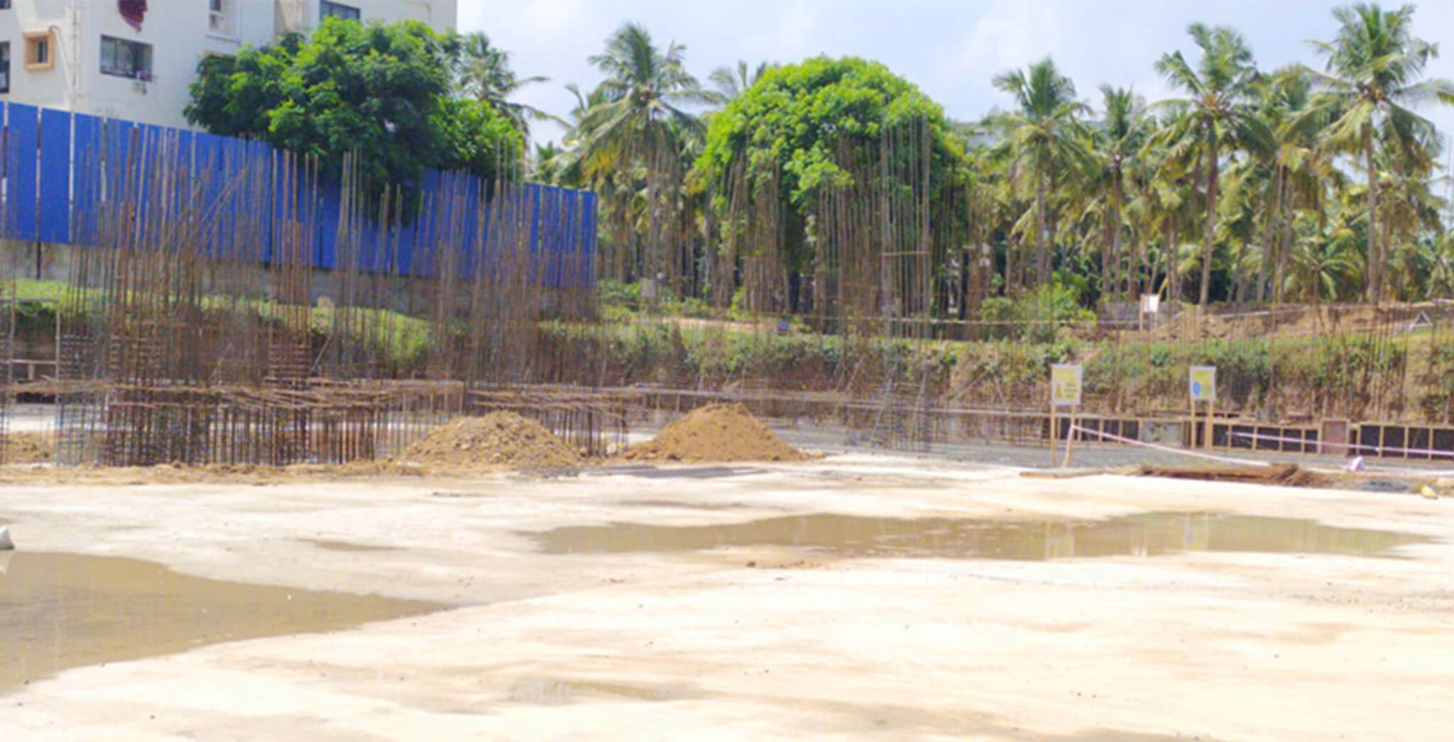 Aug 2020 - Block H: Raft foundation work-in-progress