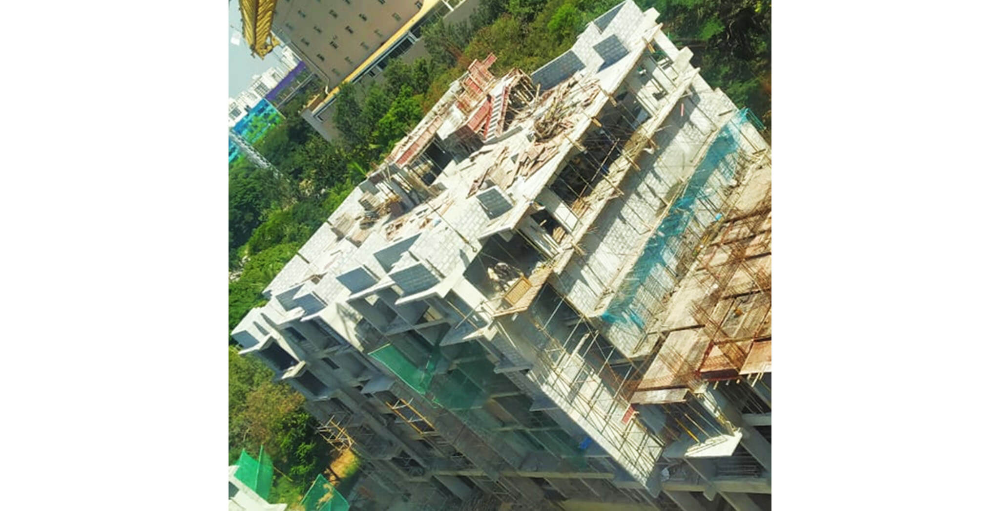 Aug 2020 - A Block: Above Terrace floor SHR & LMR bottom slab concreting completed; 4th floor block work & 3rd floor plastering work-in-progress.
