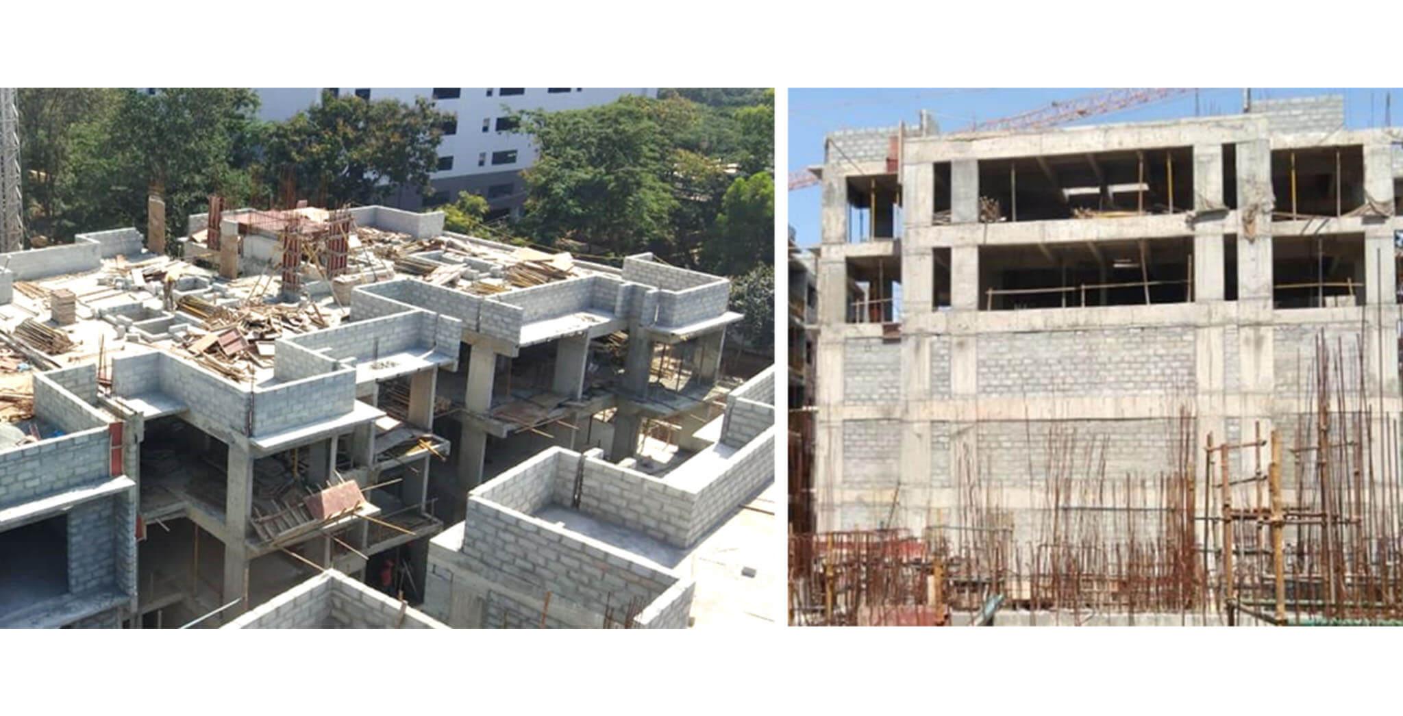 Aug 2020 - G Block: Above Terrace floor-SHR & LMR bottom slab shuttering work-in-progress.