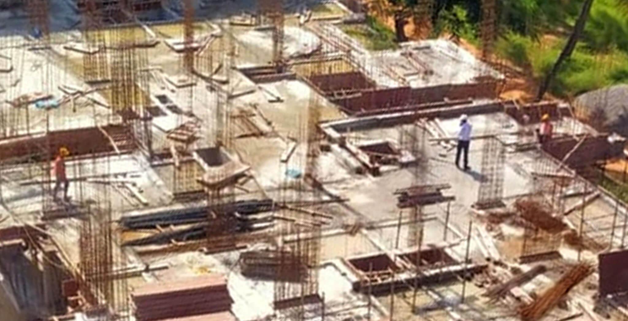 Aug 2020 - M Block: 2nd floor slab concreting completed.