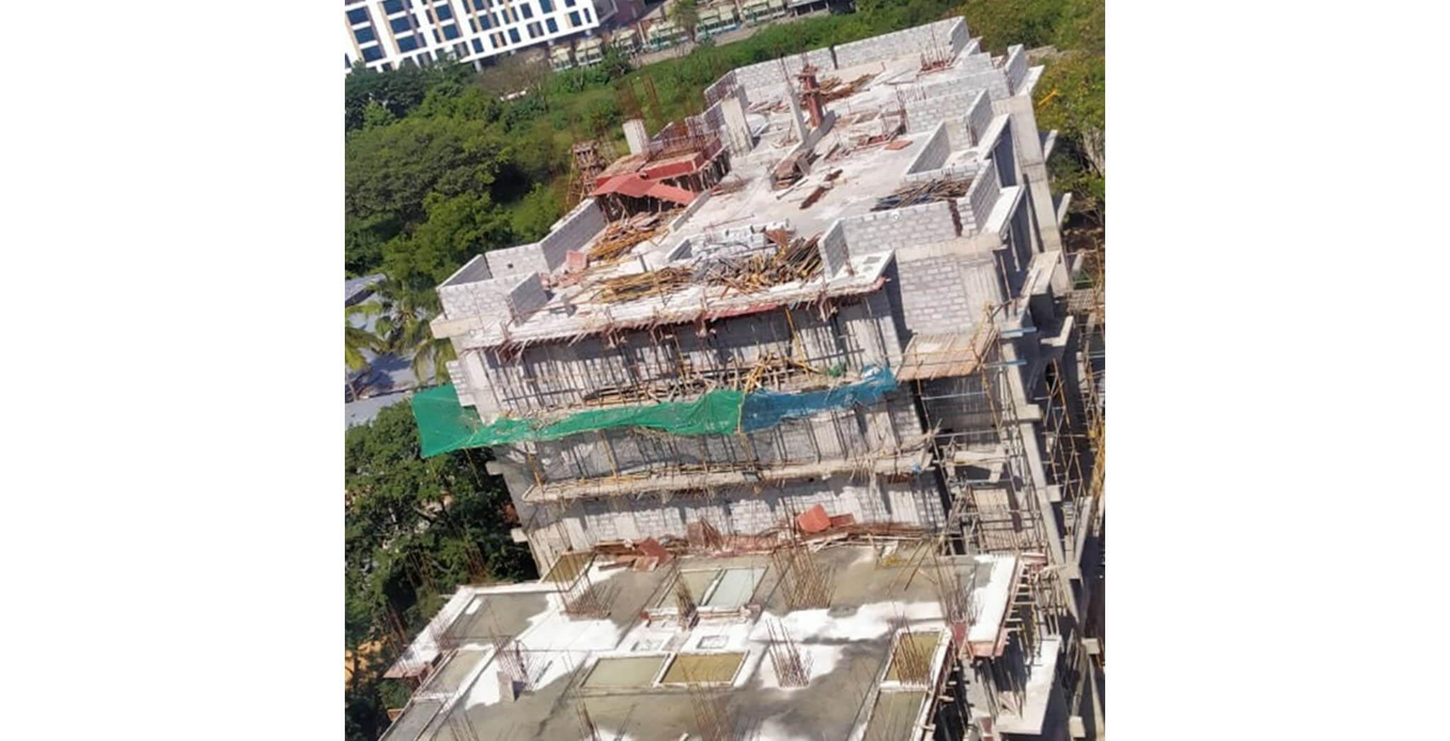 Aug 2020 - Q Block: Up to 4th floor block work completed; 2nd floor internal plastering work-in-progress.