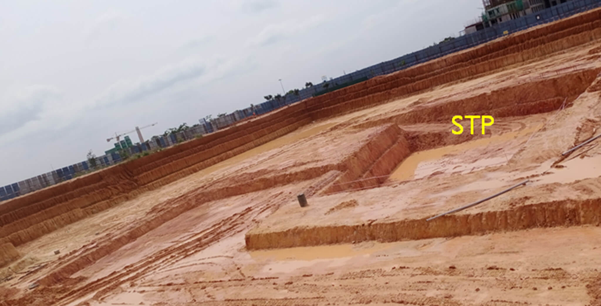 Wing B footing & STP excavation work-in-progress - Status Images 2