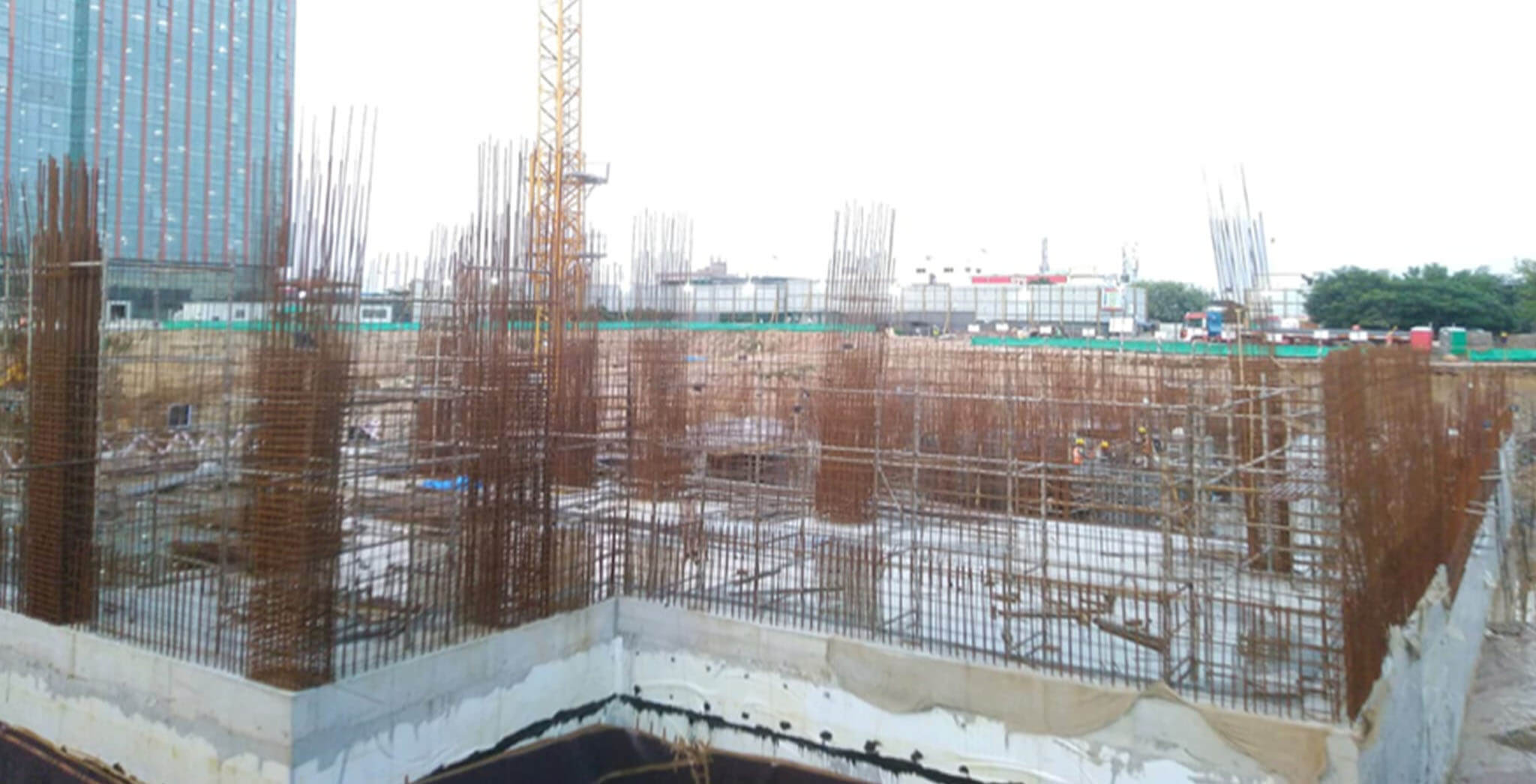 Sep 2020 - Tower A1—Raft completed; Tower B1—slab 60% completed