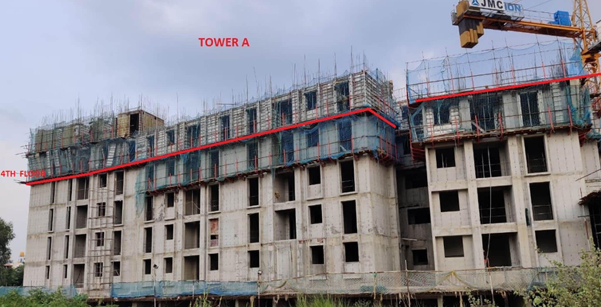 Sep 2020 - Eden: Tower A—Completion of Fourth floor slab Milestone