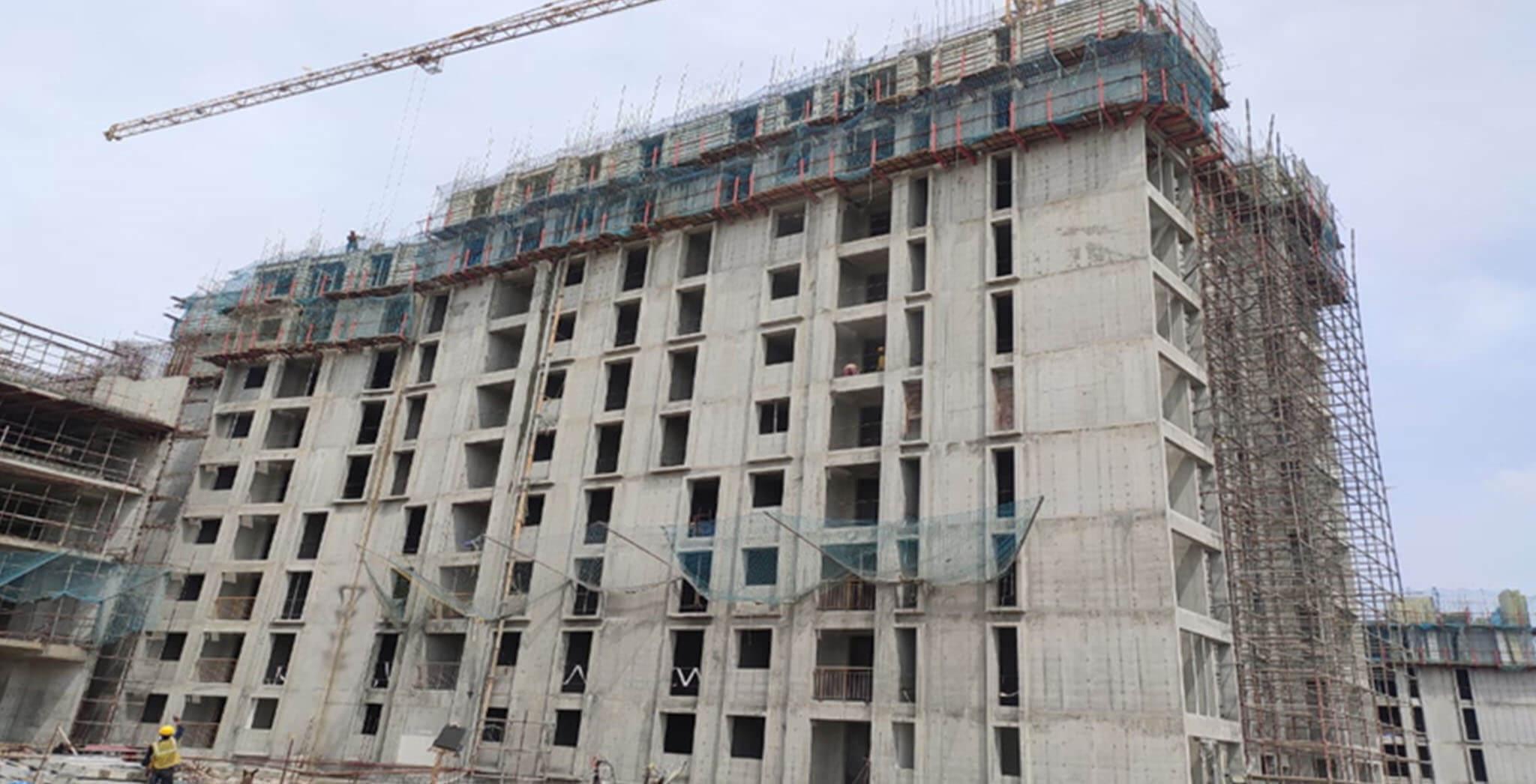 Sep 2020 - Eden: Tower C—10th Floor structure work-in-progress