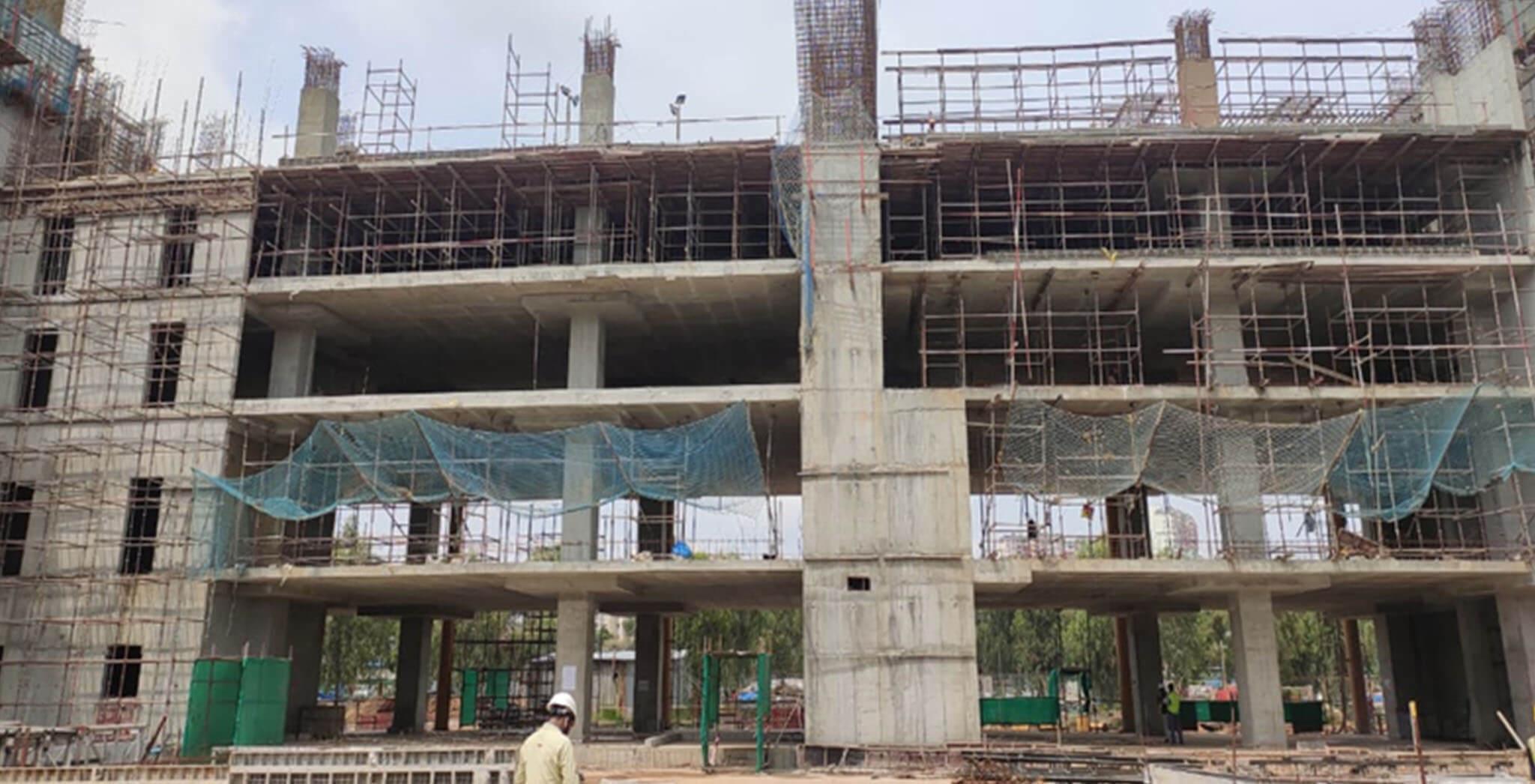 Sep 2020 - Eden: Tower D—5th Floor structure work-in-progress