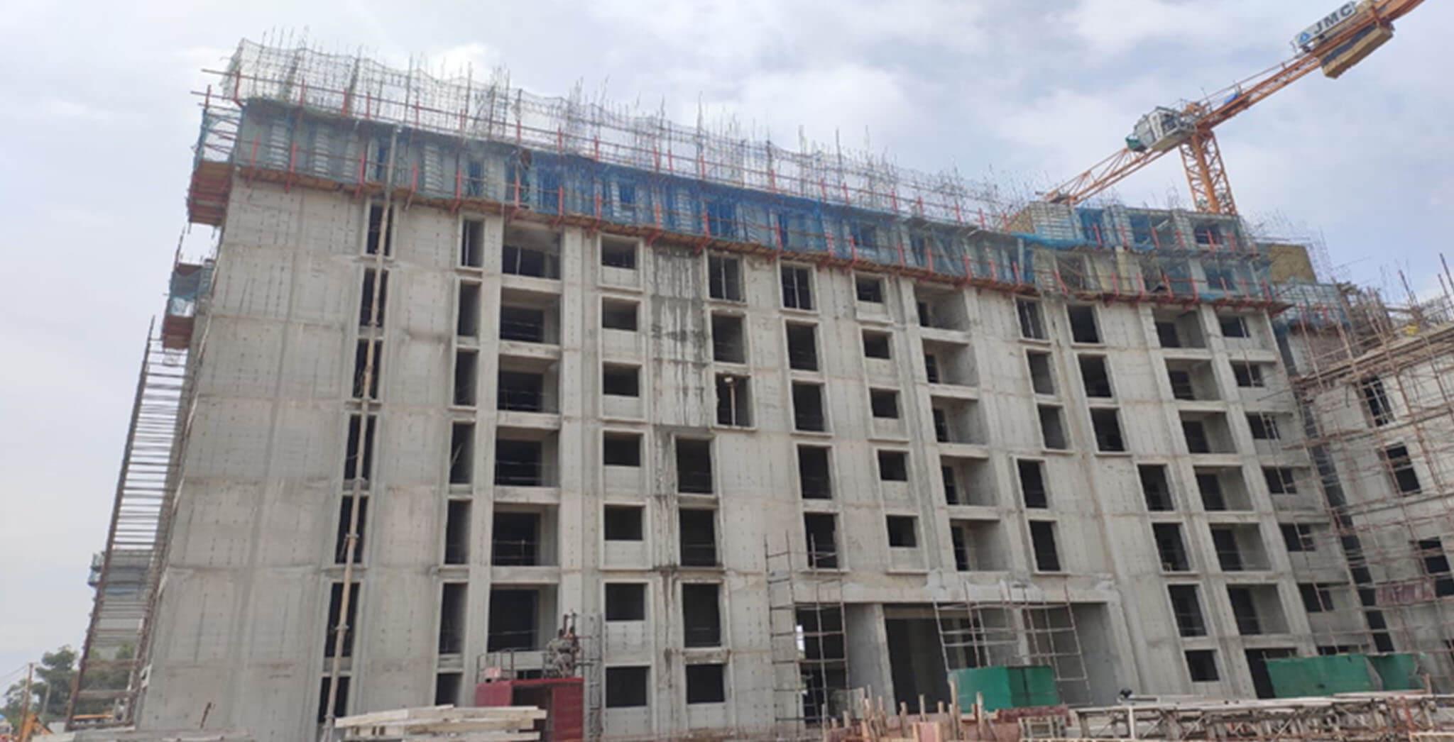 Sep 2020 - Eden: Tower E—9th Floor structure work-in-progress