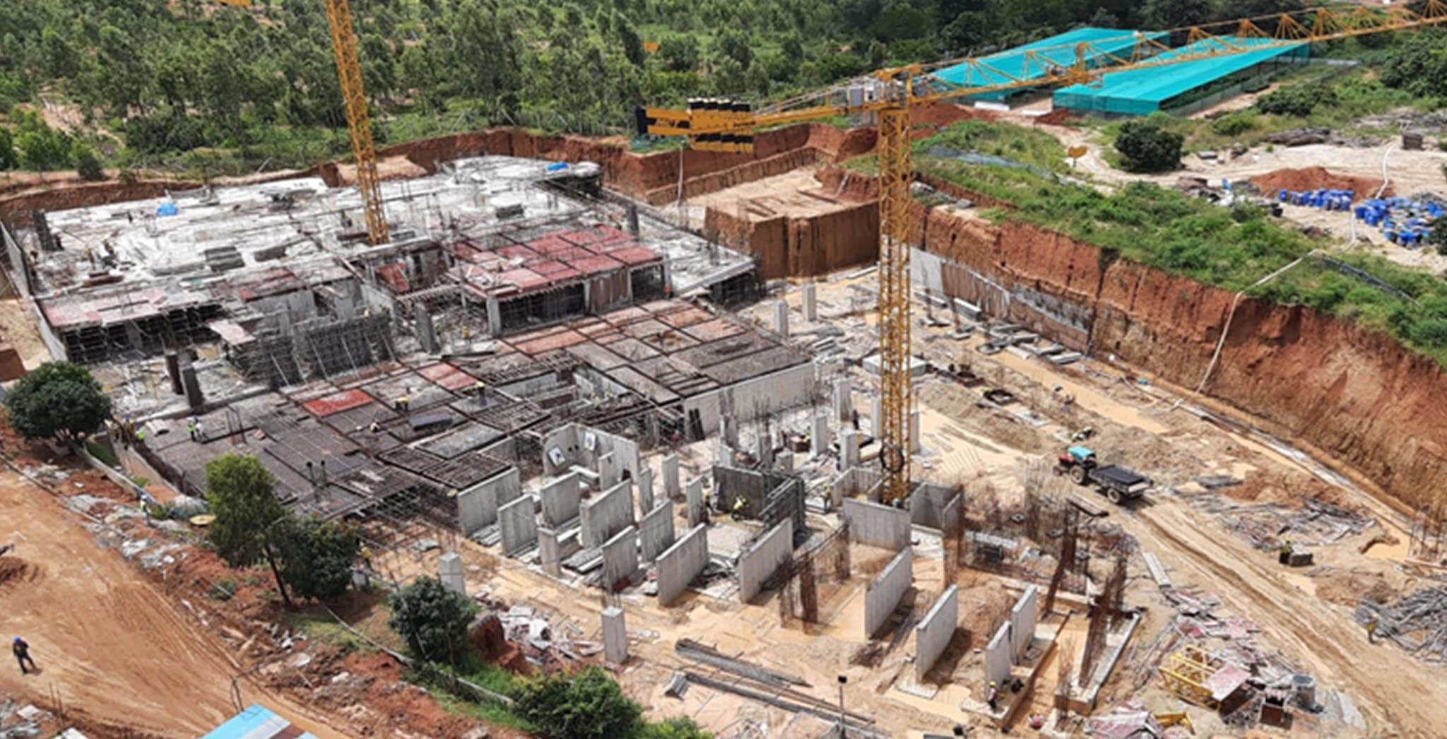 Sep 2020 - Halcyon: Tower I Basement-02—floor slab 100% completed; Tower I Basement-01—floor slab  50% completed; Tower J Basement-02—floor slab work-in-progress