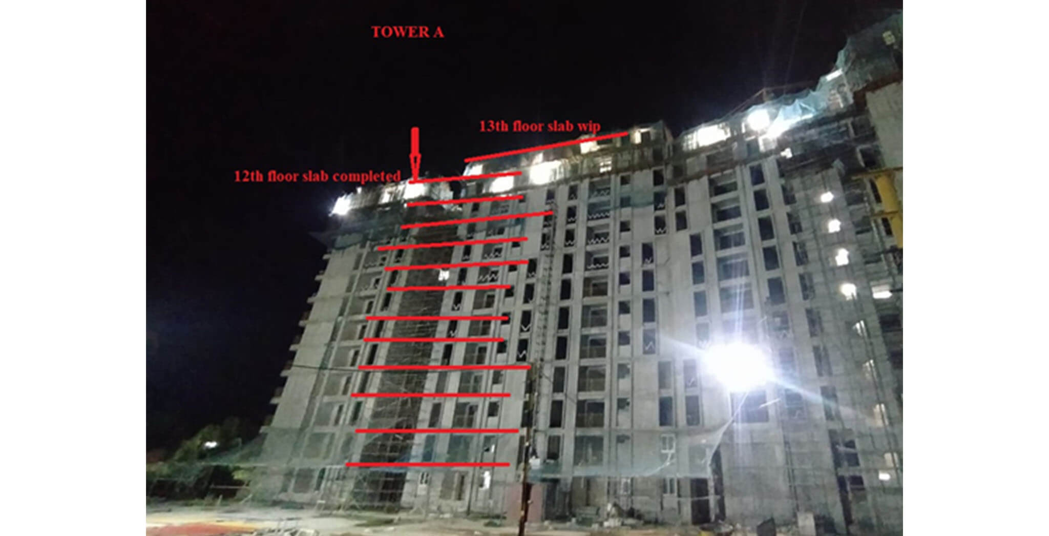 Sep 2020 - Serene: B05 Tower/Wing A—Casting of 12th floorslab was completed on September 4th 2020