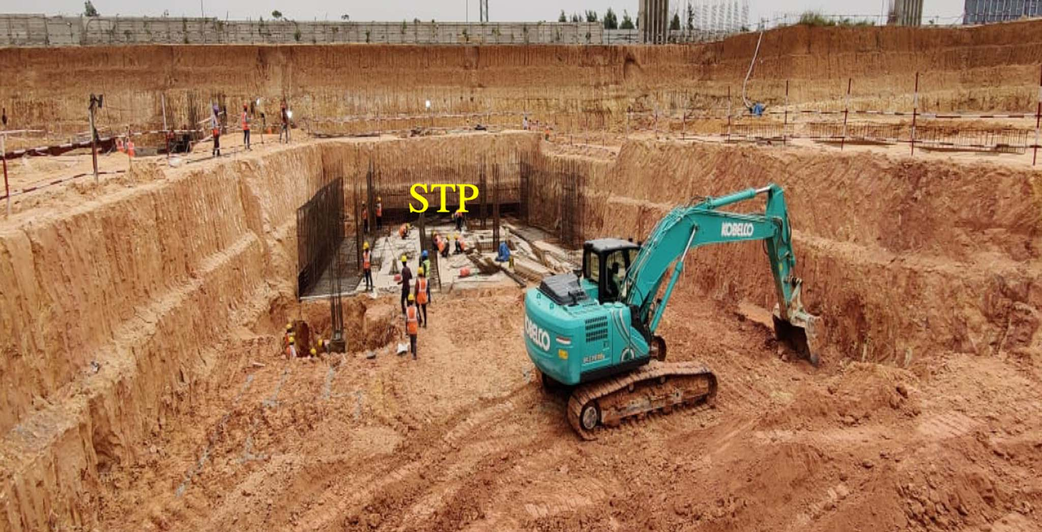 STP foundation excavation work-in-progress - Status Images 0