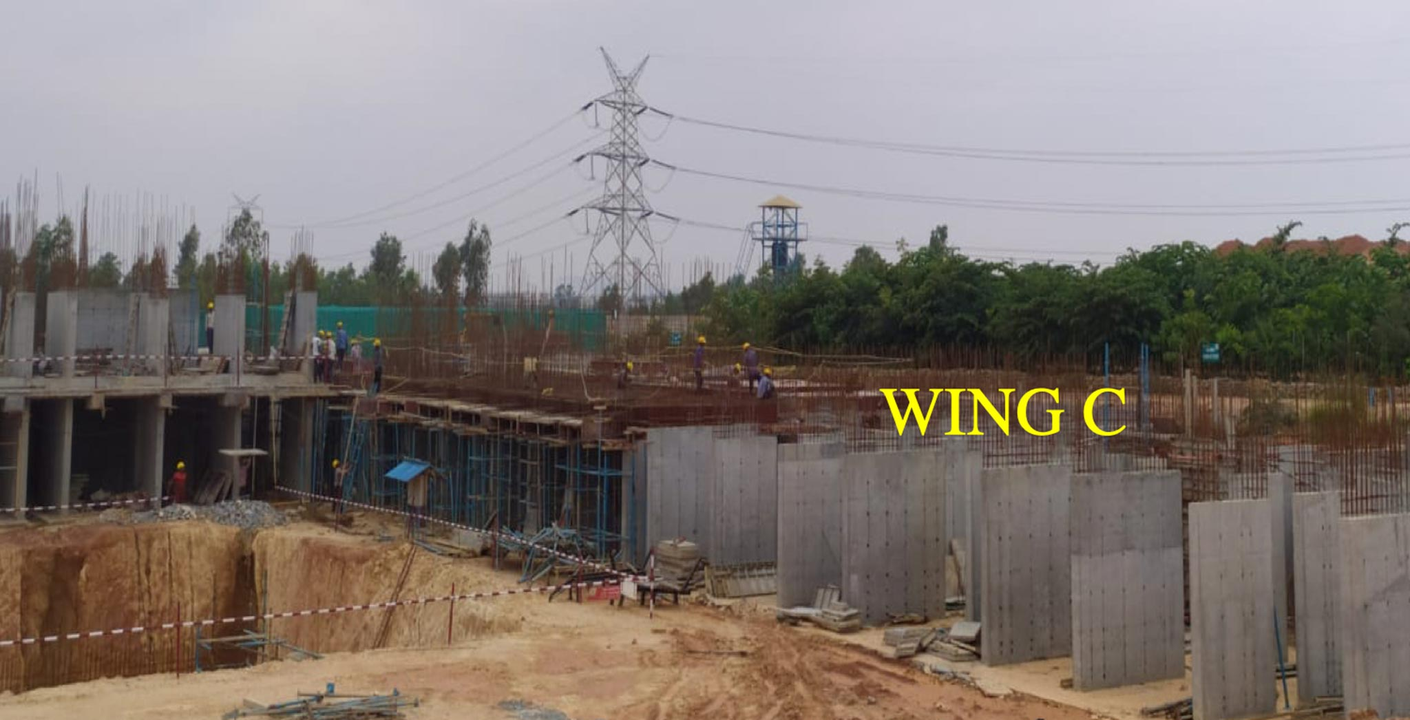 Oct 2020 - Helio Block: Wing C—GF slab shuttering work-in-progress