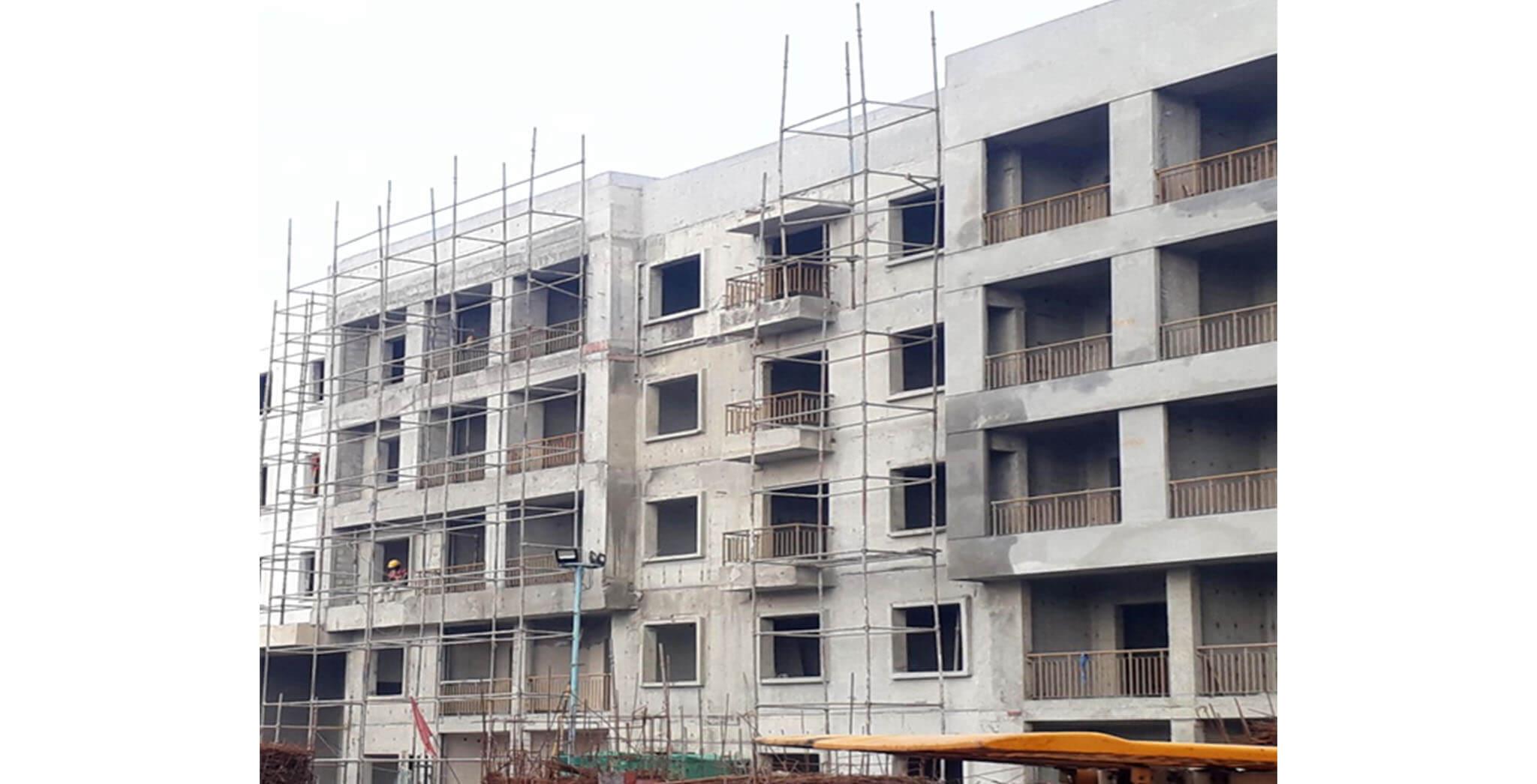 Oct 2020 - N Block: External work-in-progress