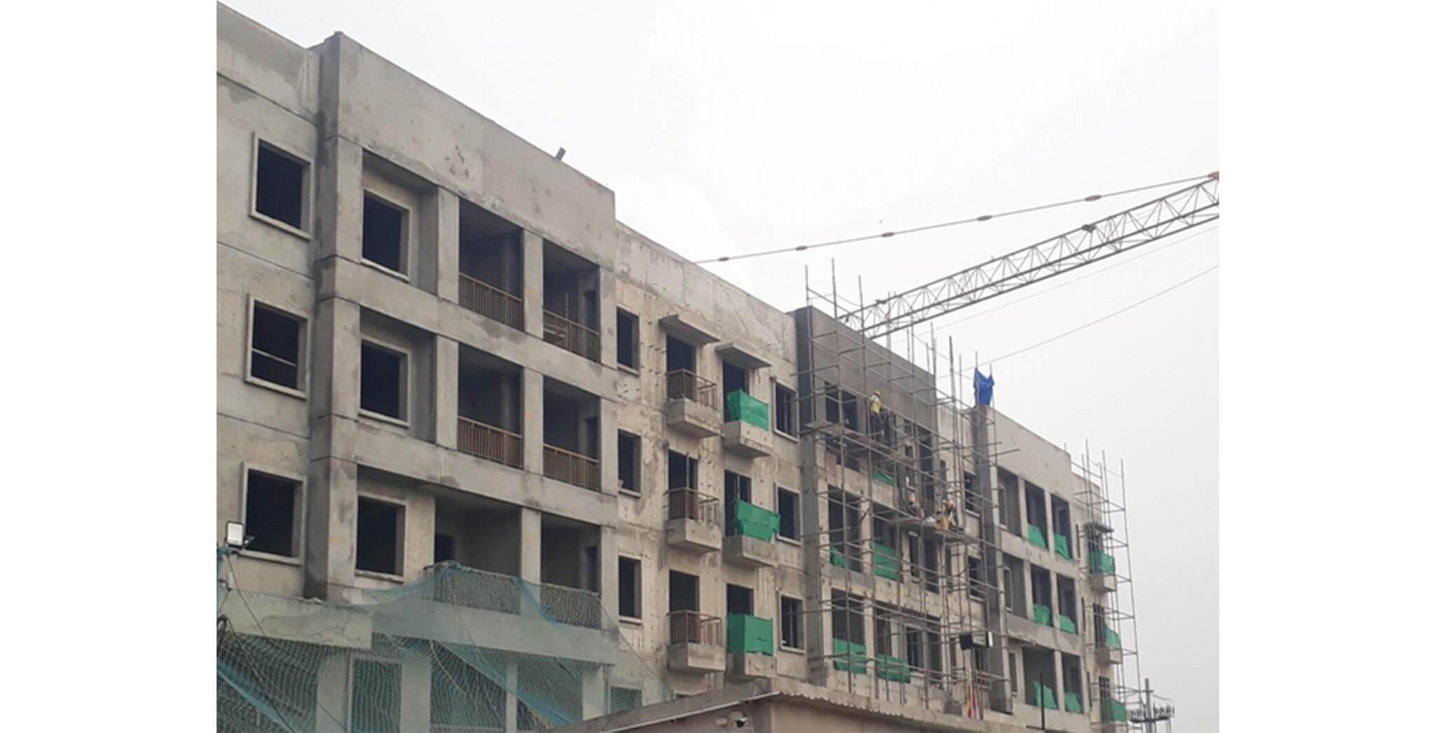 Oct 2020 - O & P Block: External work-in-progress