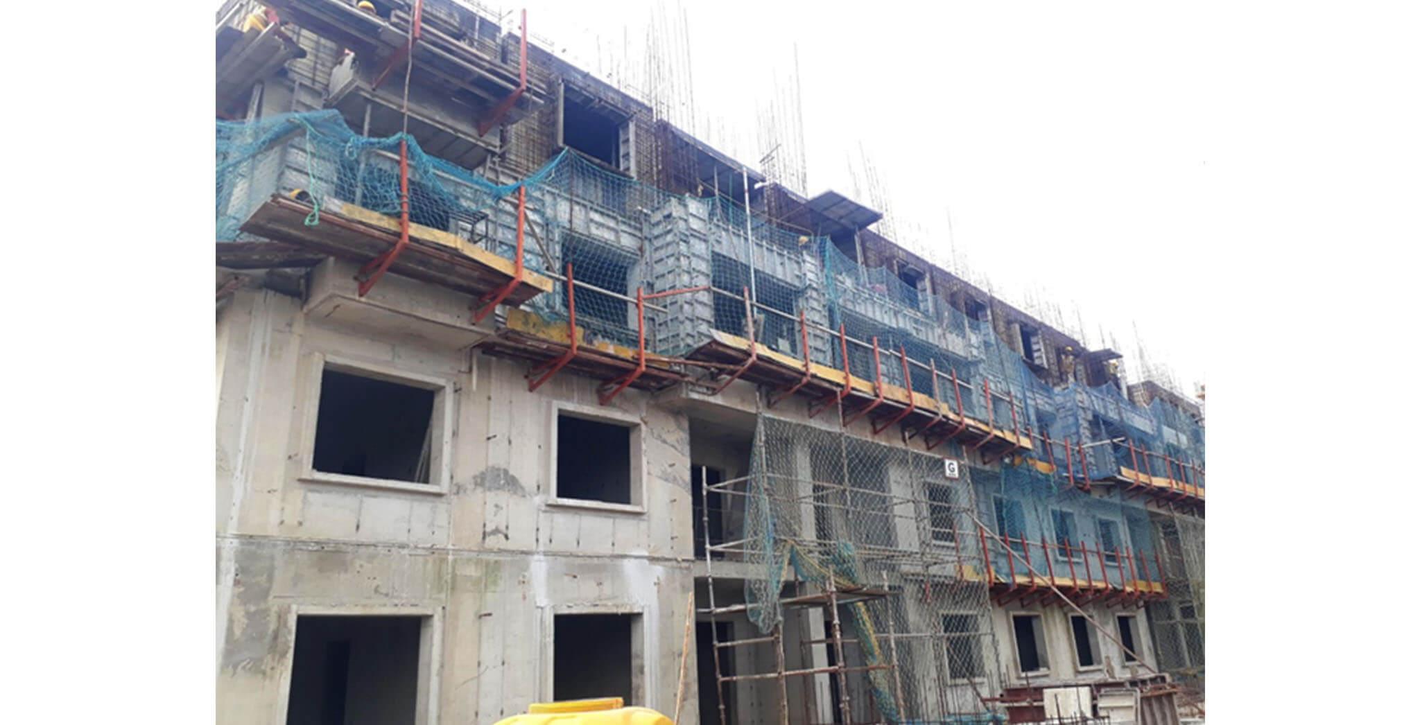 Oct 2020 - G Block: Fourth floor slab work-in-progress