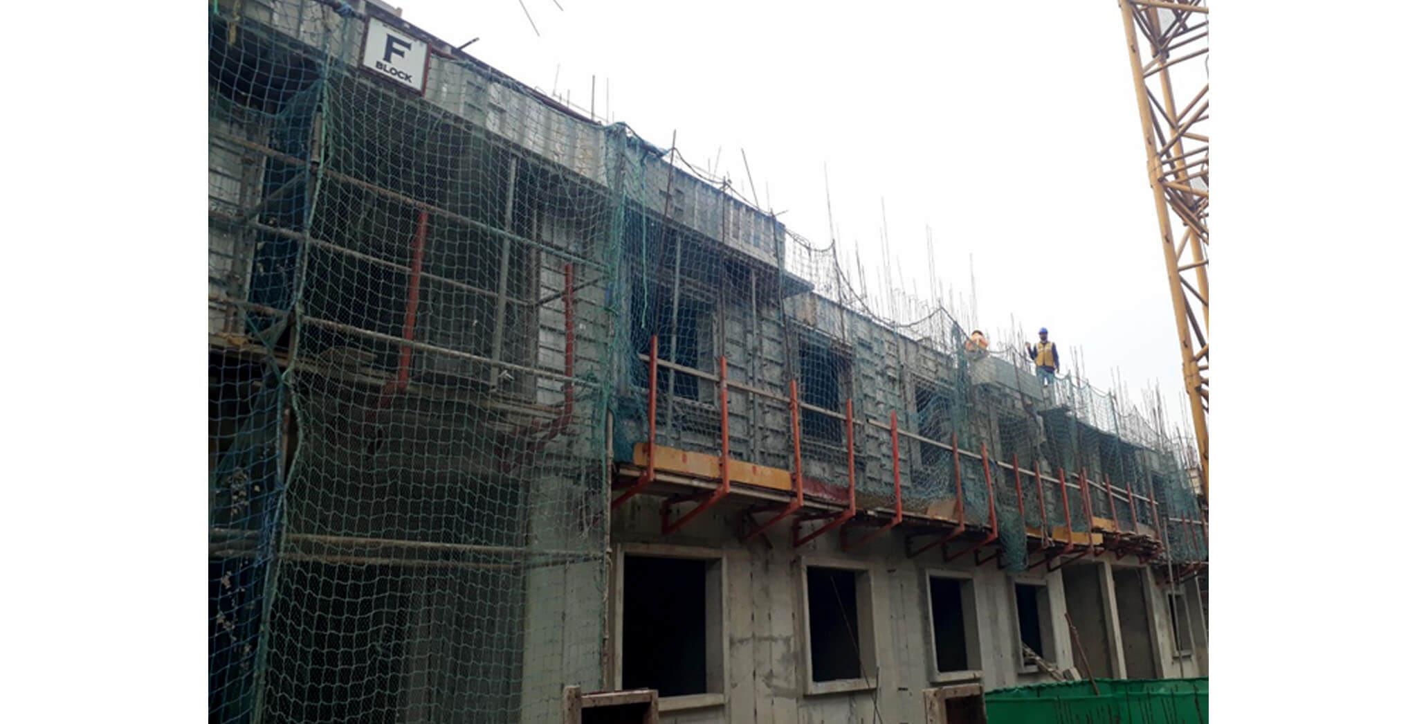 Oct 2020 - F Block: Second floor slab work-in-progress
