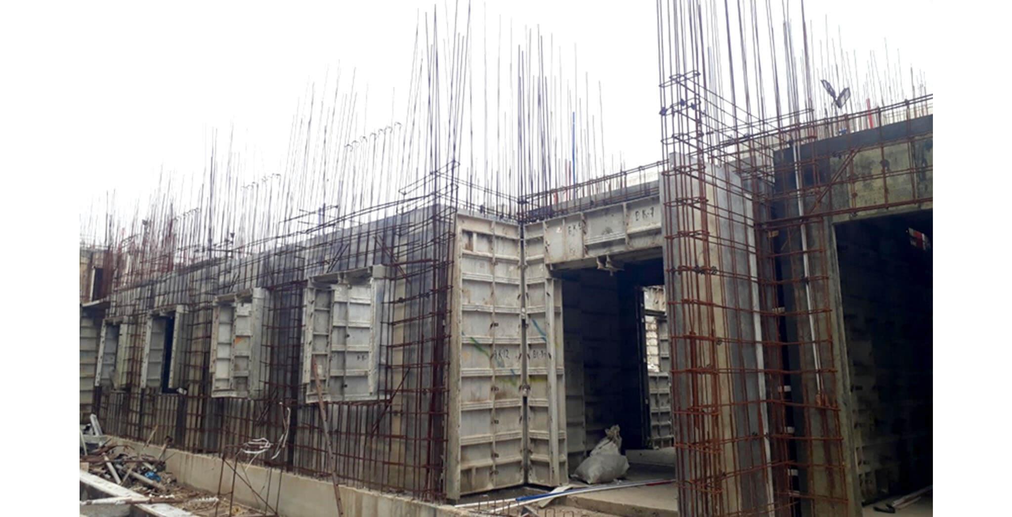 Oct 2020 - L Block: First floor slab work-in-progress