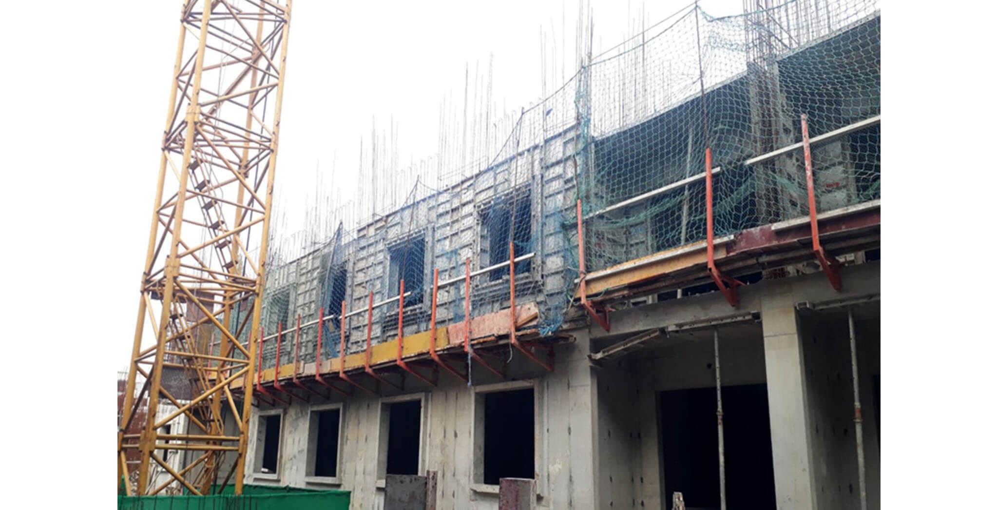 Oct 2020 - K Block: Second floor slab work-in-progress
